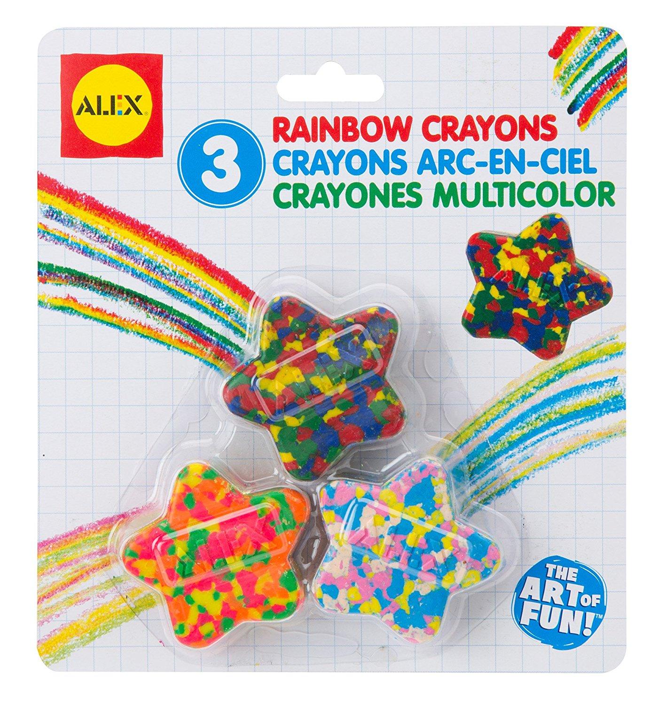 Amazon.com: ALEX Toys Artist Studio Star Shaped Multi Color Crayons ...