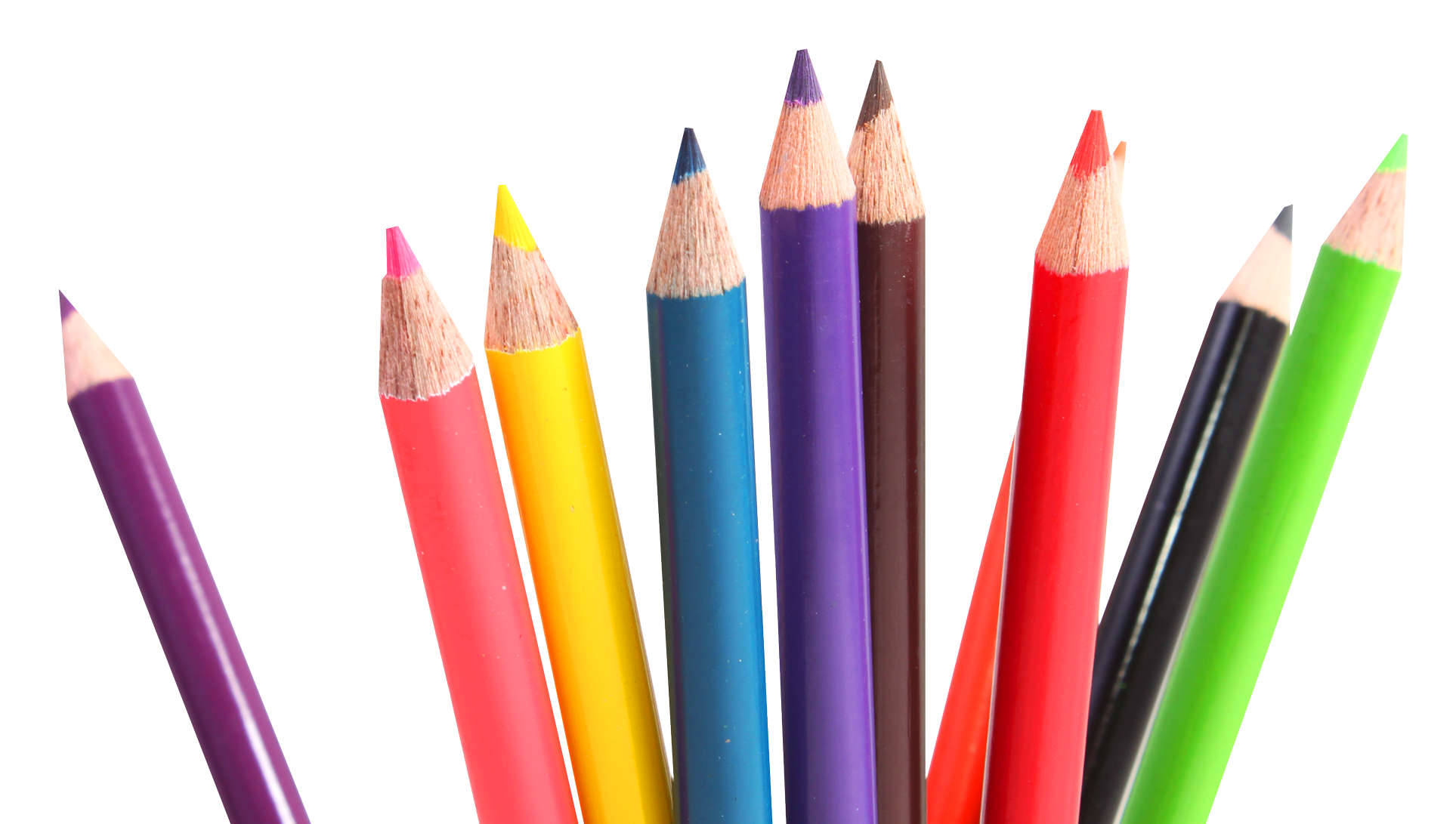 Multicolor Crayons PNG Image | PNG Transparent best stock photos