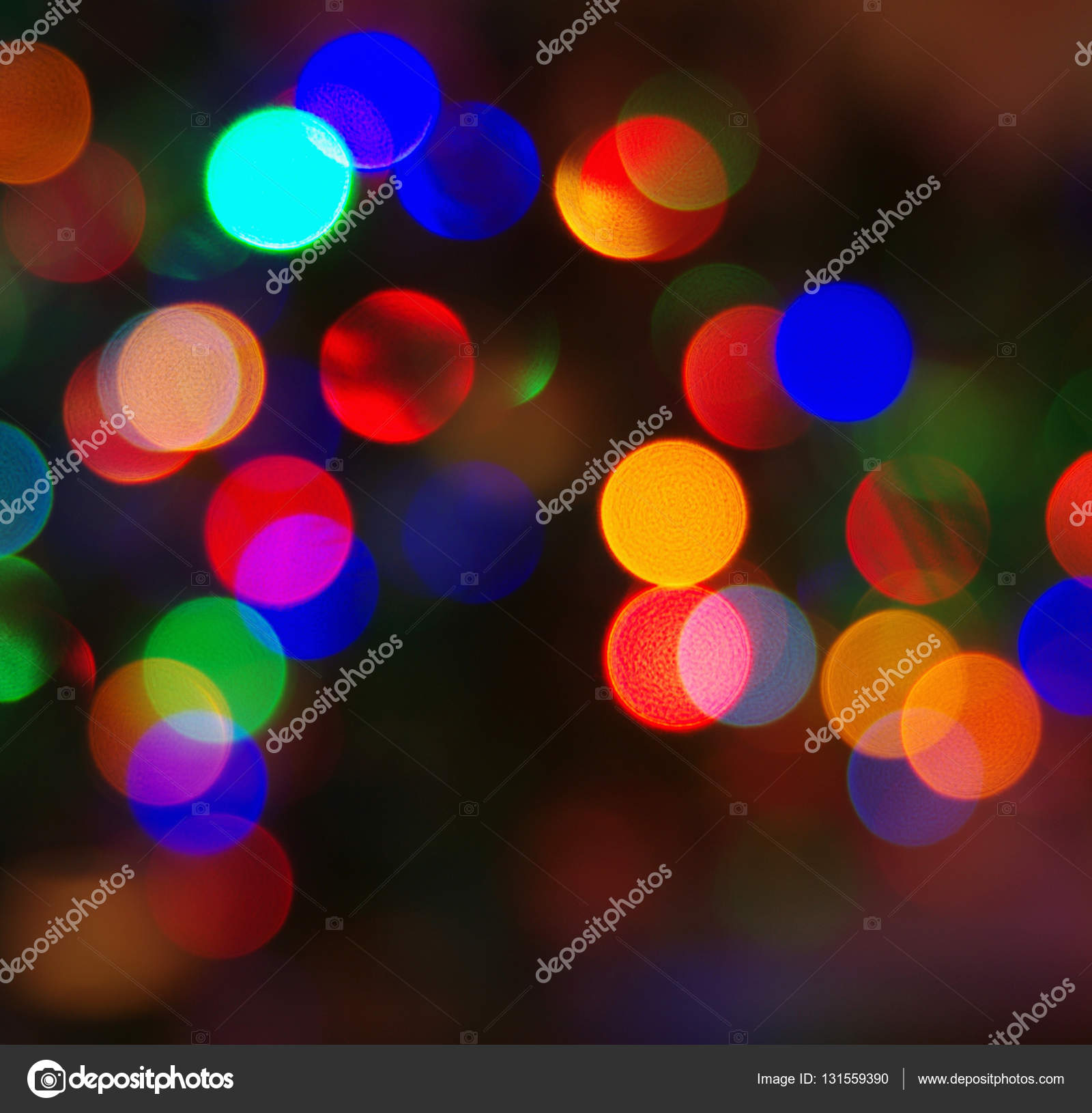 Defocused abstract multicolored bokeh lights background — Stock ...