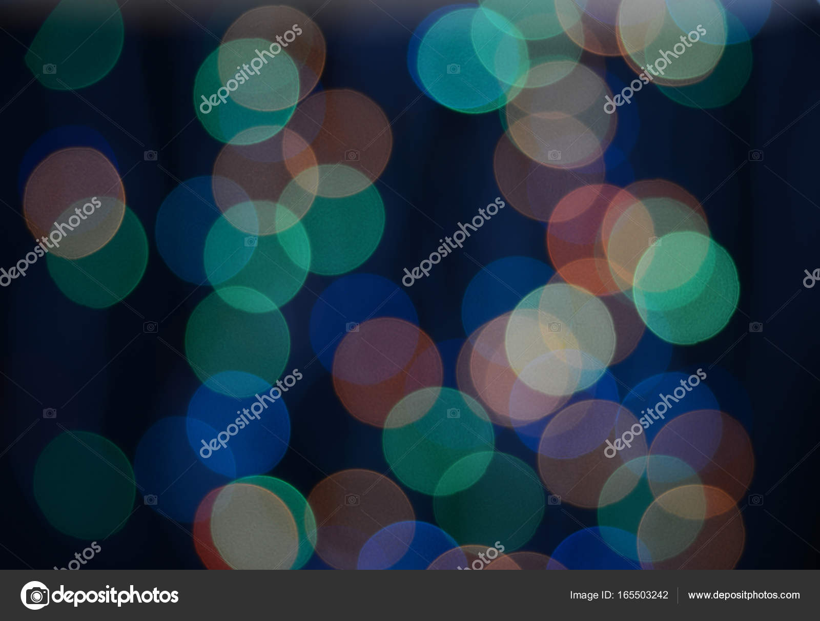 Multicolored bokeh on the black background — Stock Photo © Epitavi ...