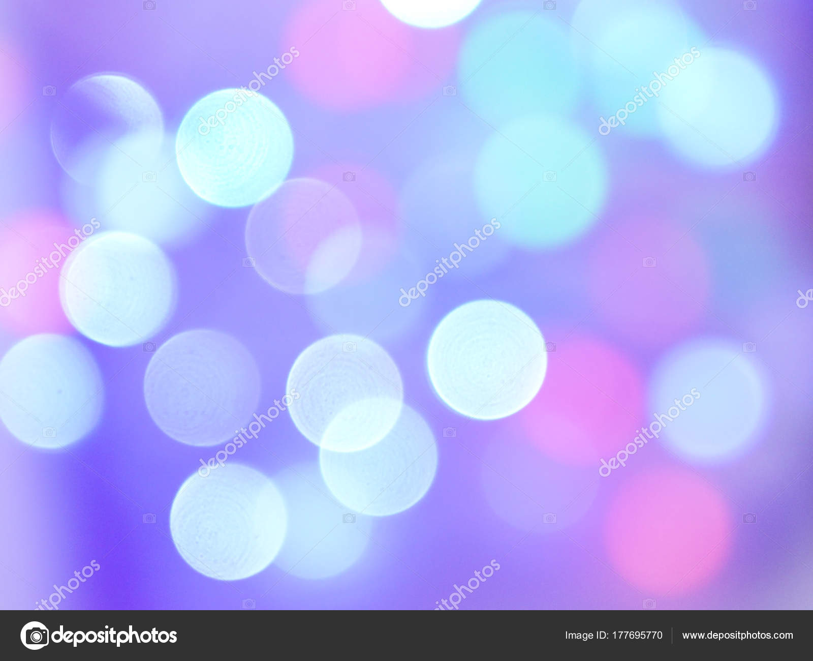 Multicolored Glare Bokeh New Year Garland — Stock Photo ...
