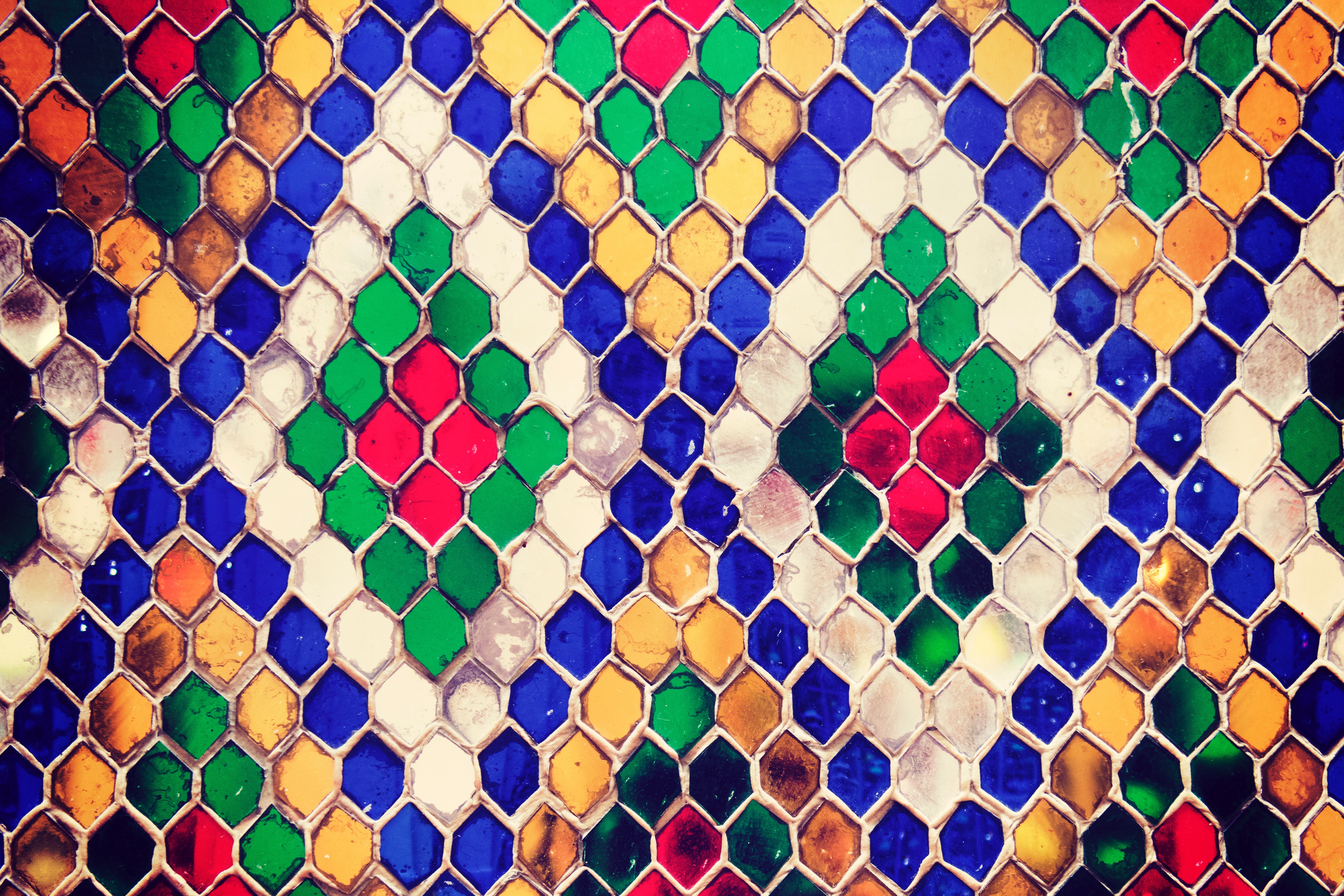 Multicolored Mosaic Photo, Abstract, Graphic, Texture, Style, HQ Photo