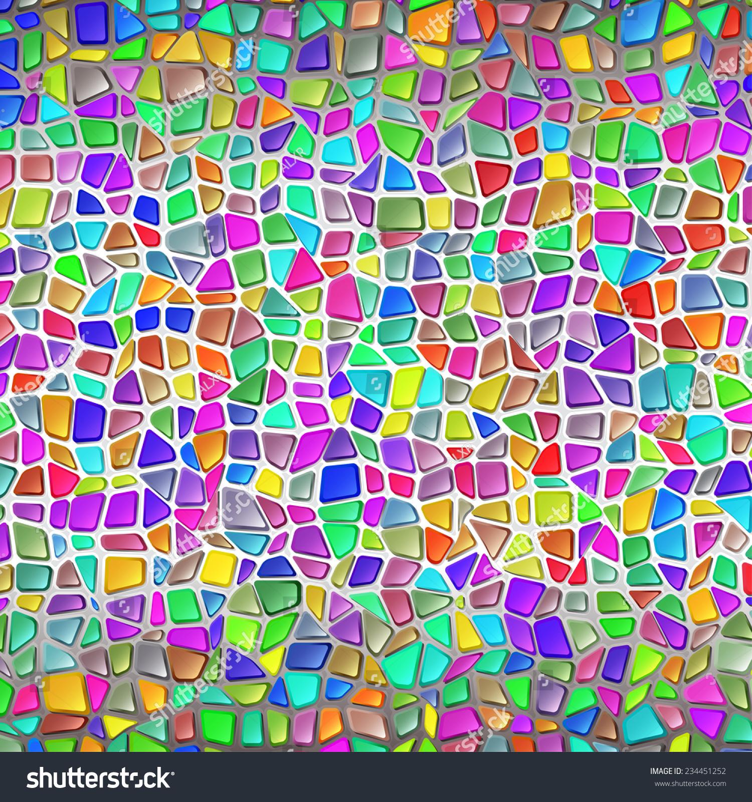 Wall Brilliant Stone Multicolored Mosaic Gaudis Stock Photo (Photo ...