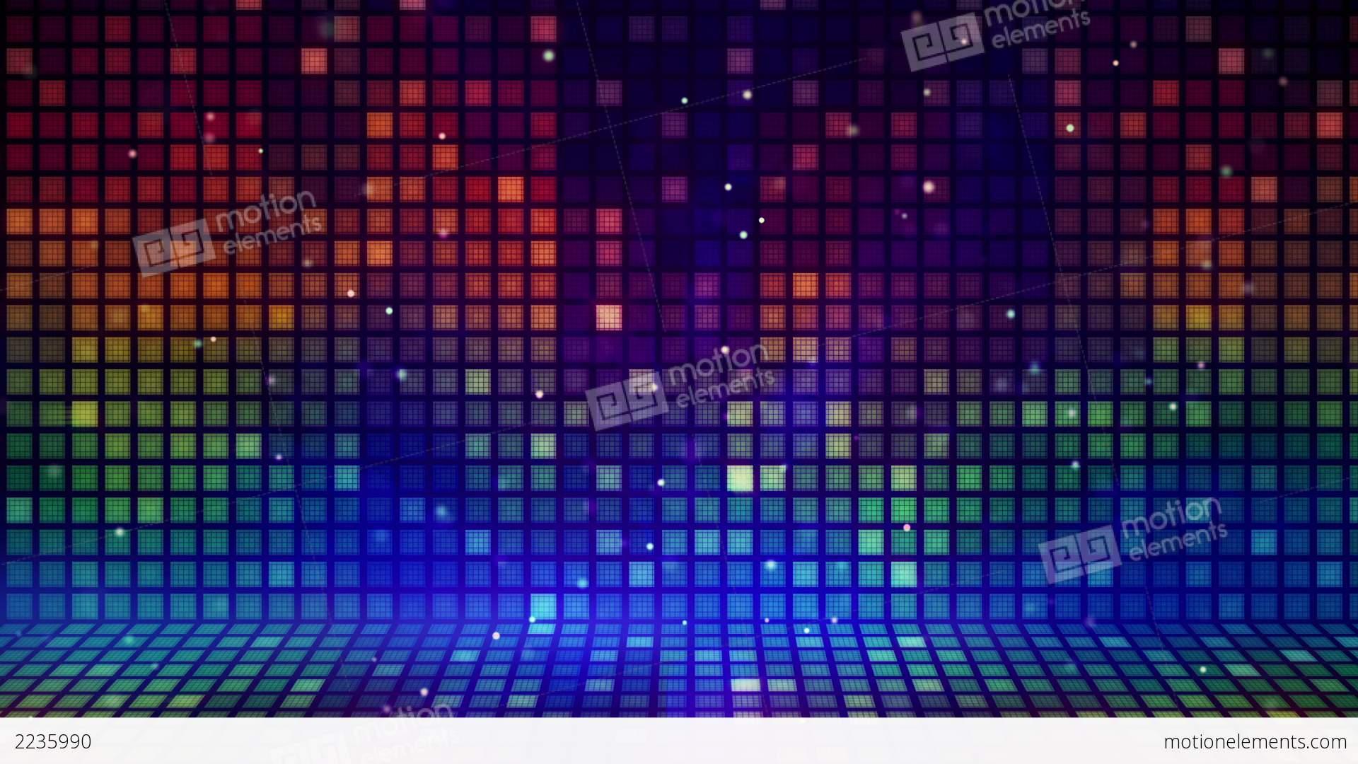 Multicolored Mosaic Flashing Loopable Background Stock Animation ...