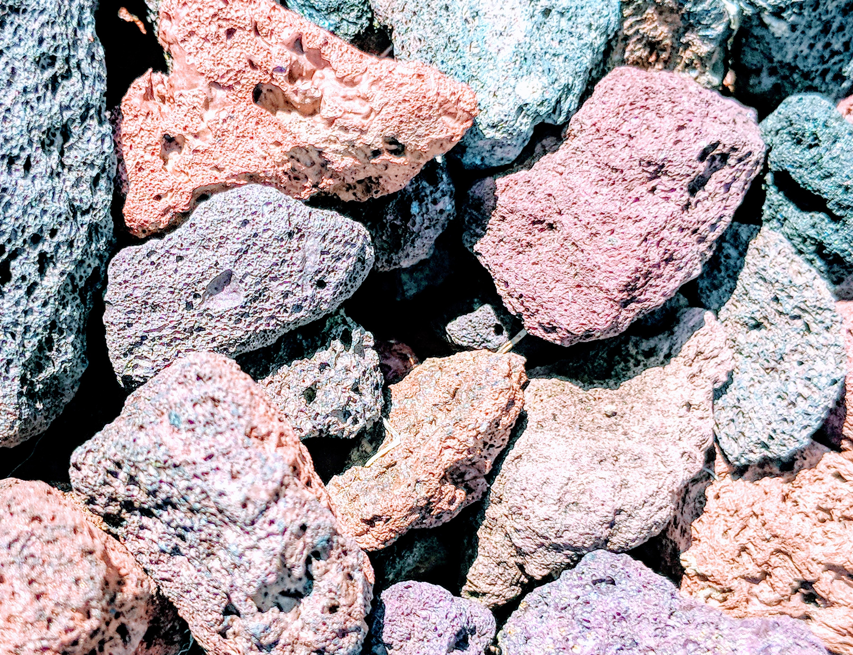 Free stock photo of lava rocks, pink background, rock background