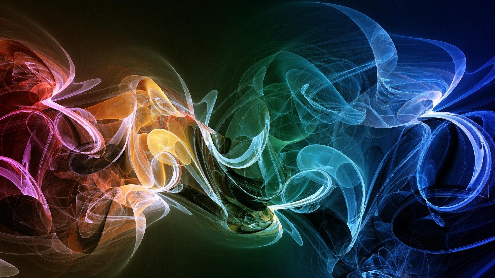 Multicolored smoke photo