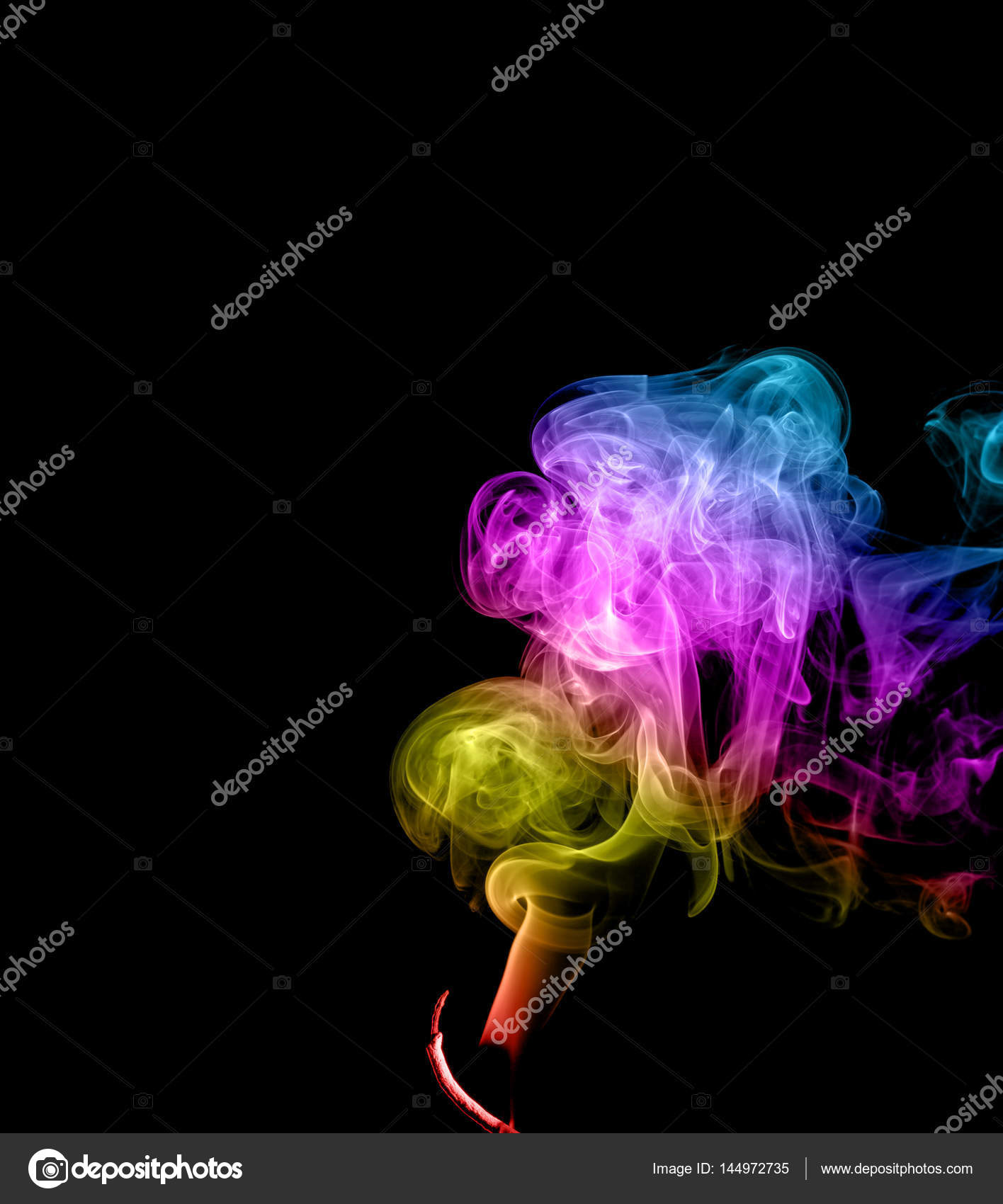 Abstract multicolored smoke — Stock Photo © denisds #144972735