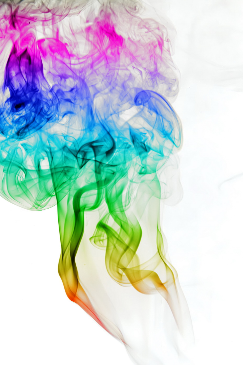 Multicolored Smoke, Abstract, Aroma, Aromatherapy, Color, HQ Photo