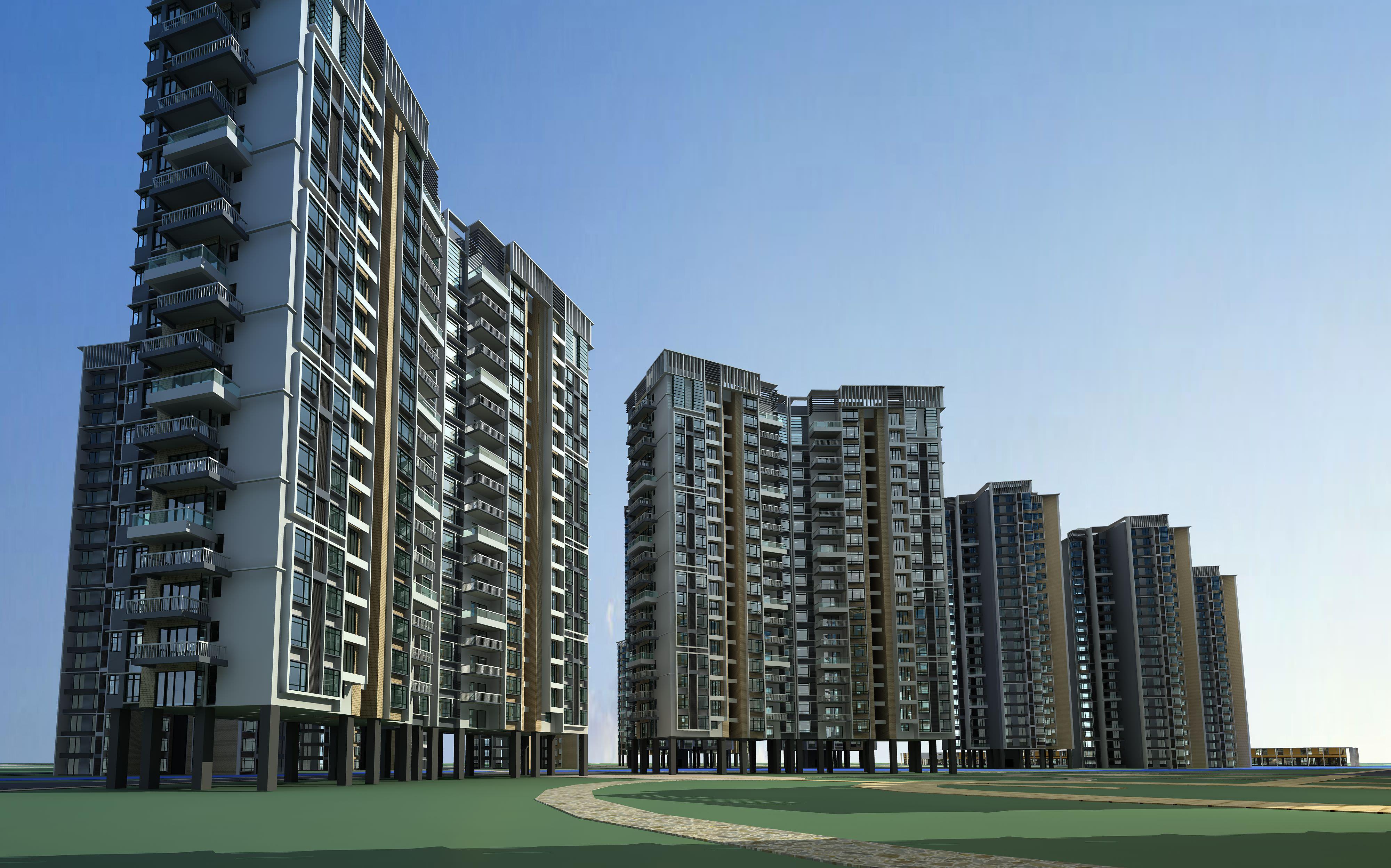 Free photo: multi-storey building - Apartment, Living ...