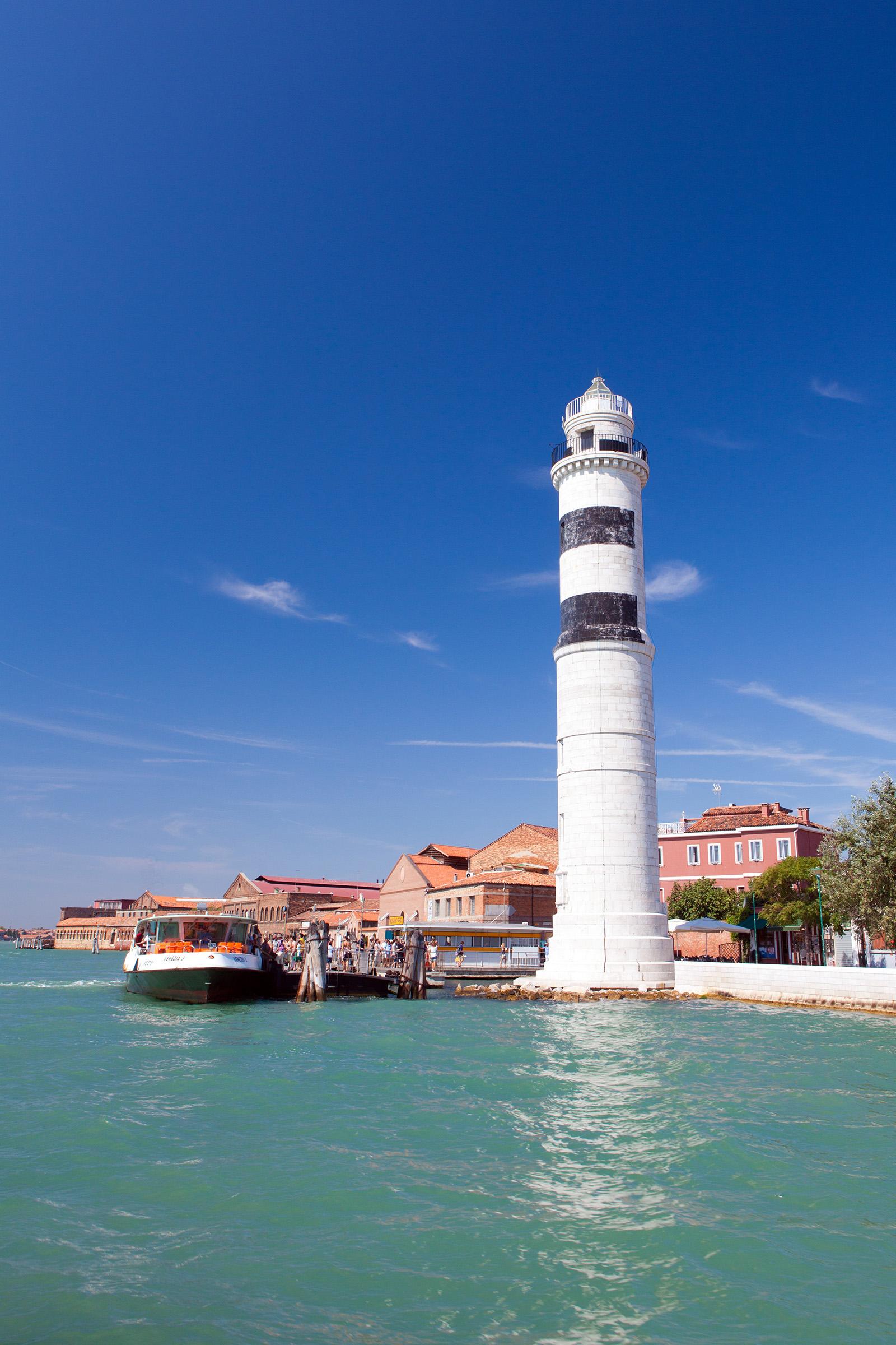 Murano lighthouse, Boat, Laguna, Venice, Venezia, HQ Photo