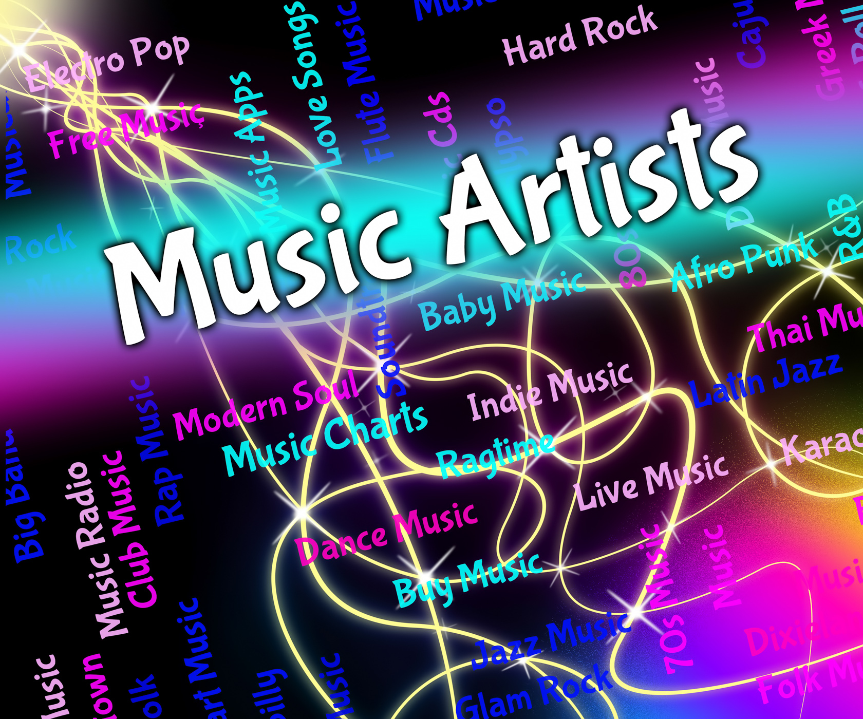 Music artists represents sound track and acoustic photo