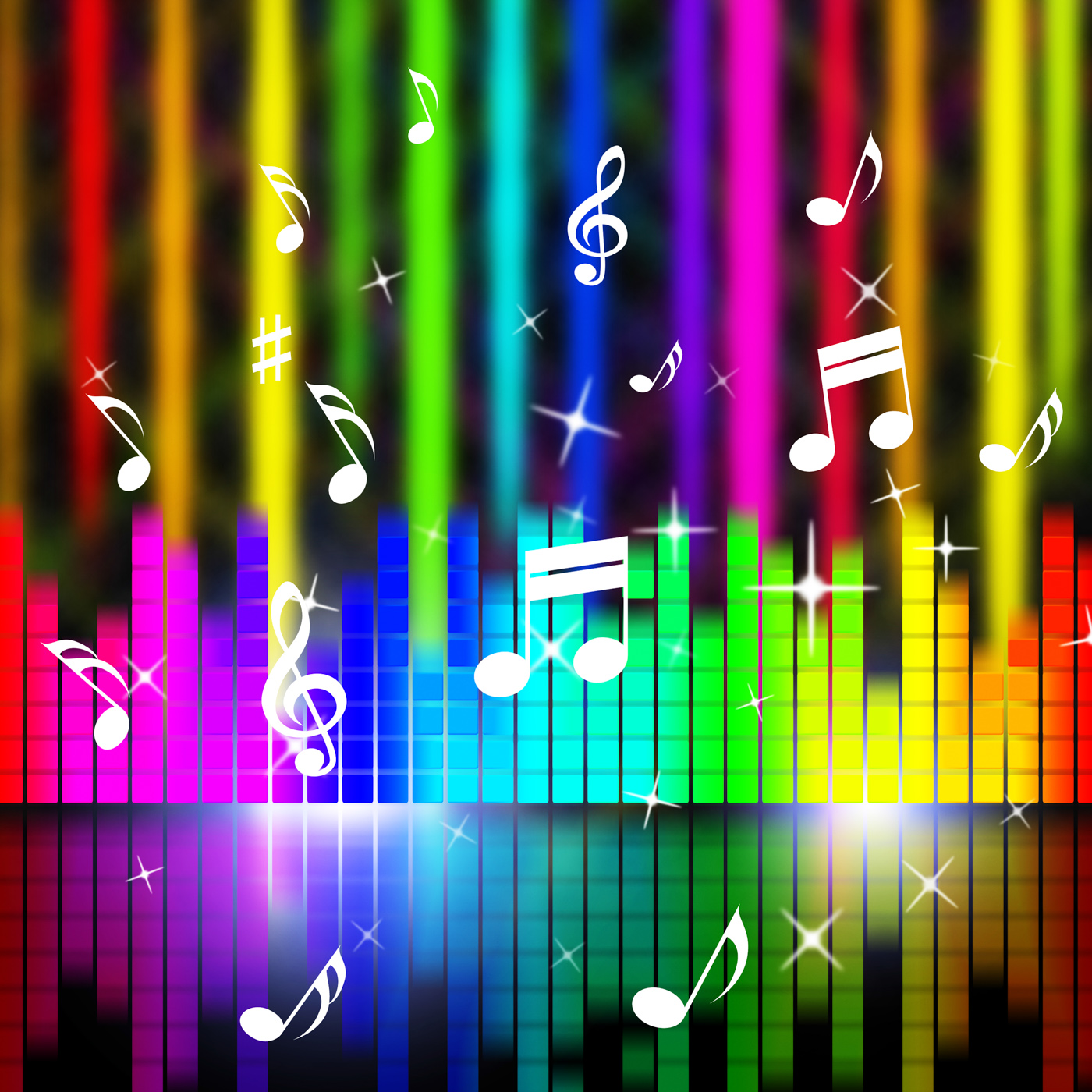 Free photo: Music Background Means Playing Songs And Sounds - Randb