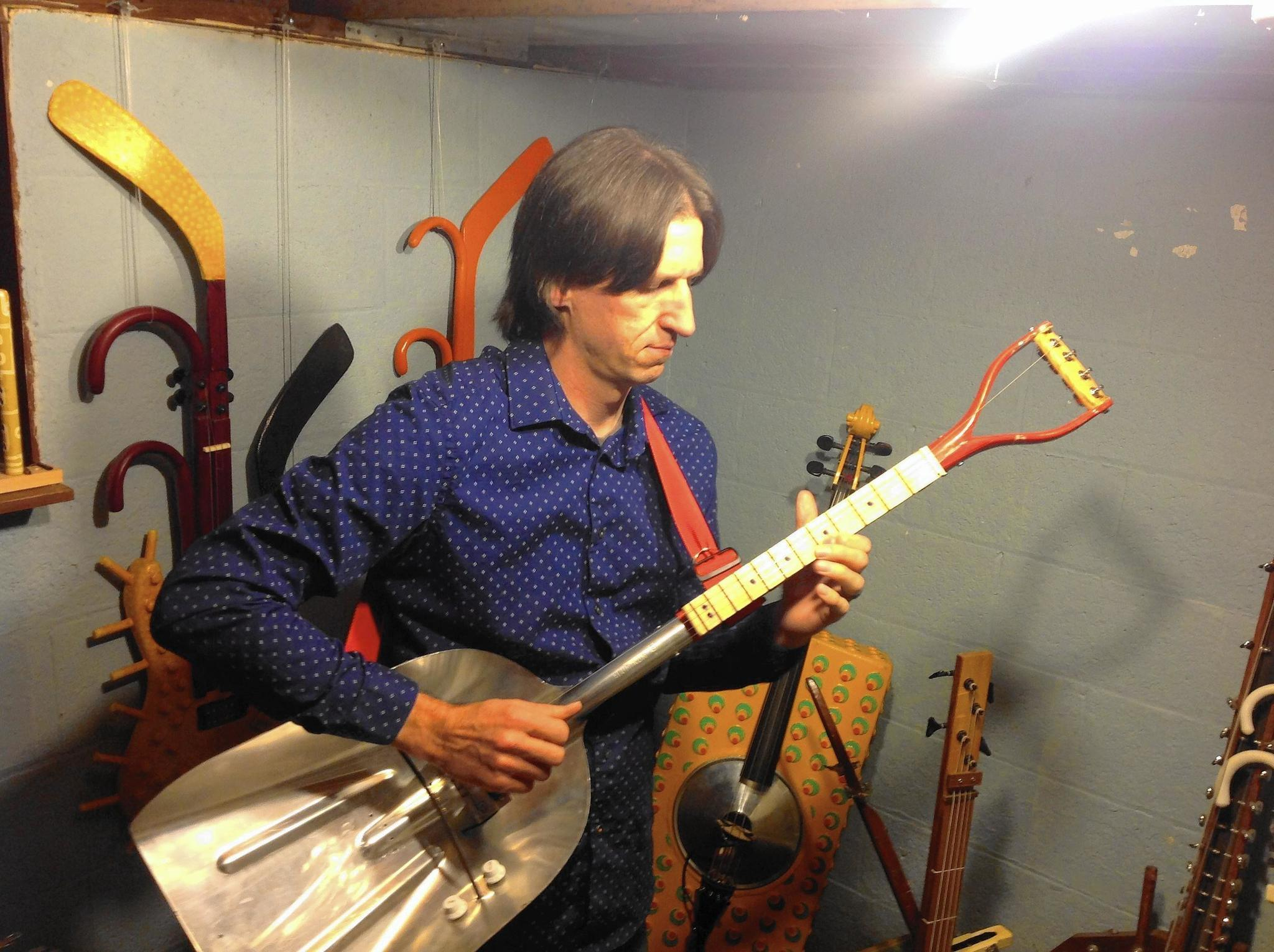 A guitar made from a shovel? Musician's instrumental oddities coming ...
