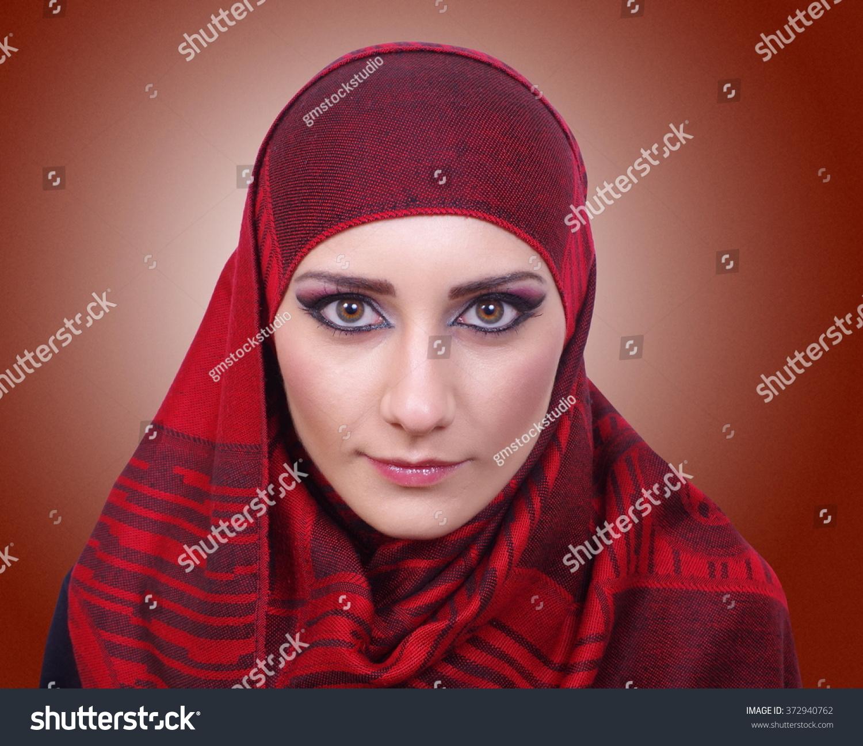 Pretty Muslim Girl Portrait Stock Photo (Royalty Free) 372940762 ...