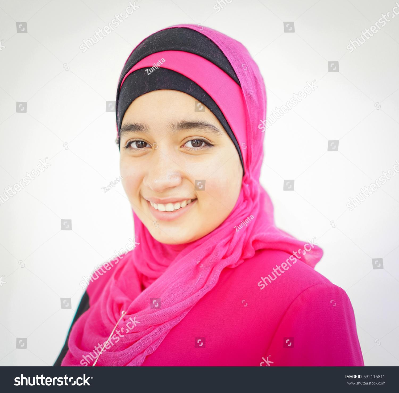 Fashion Portrait Young Beautiful Muslim Girl Stock Photo (Royalty ...