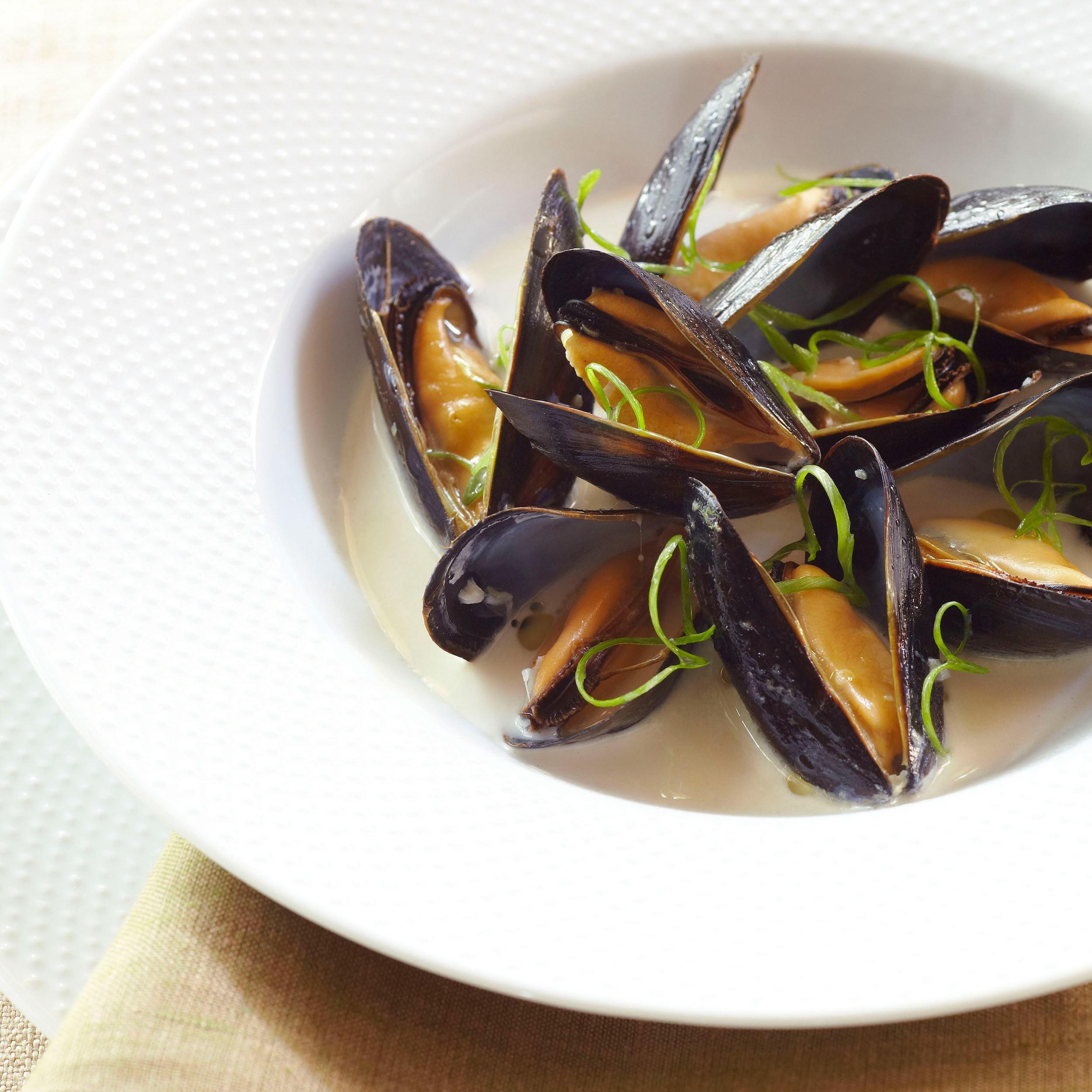 Coconut Lime Mussels recipe | Epicurious.com