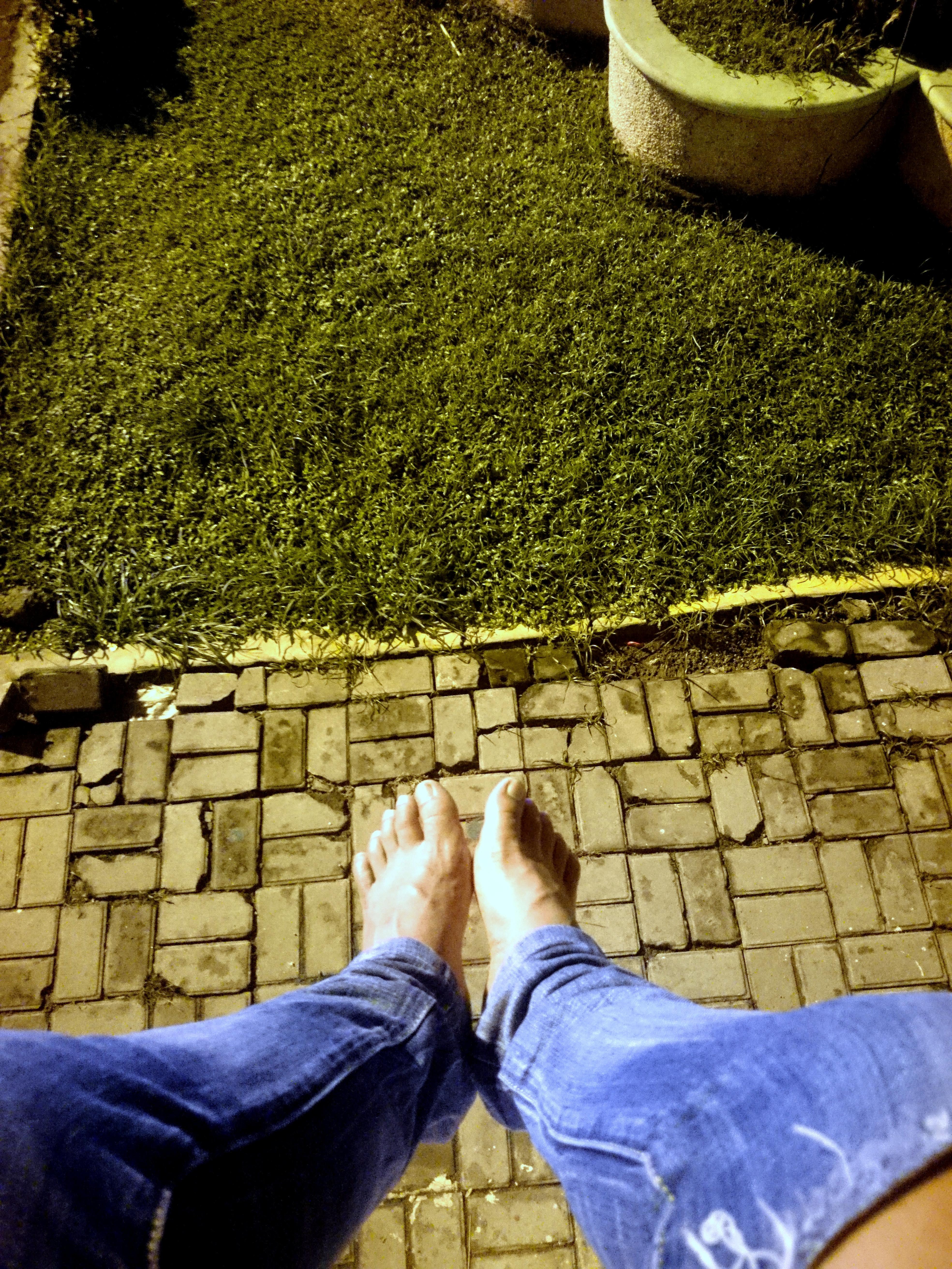 My Feet, Bare, Feet, Human, Jeans, HQ Photo