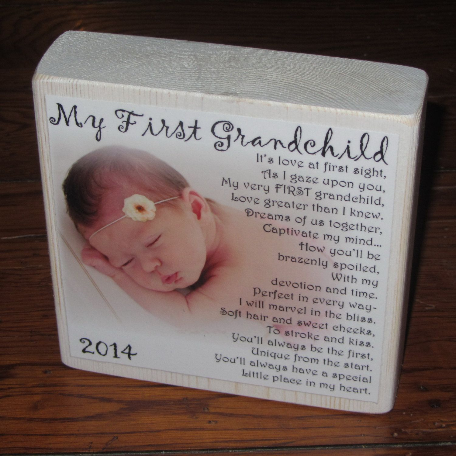 My first grandchild photo