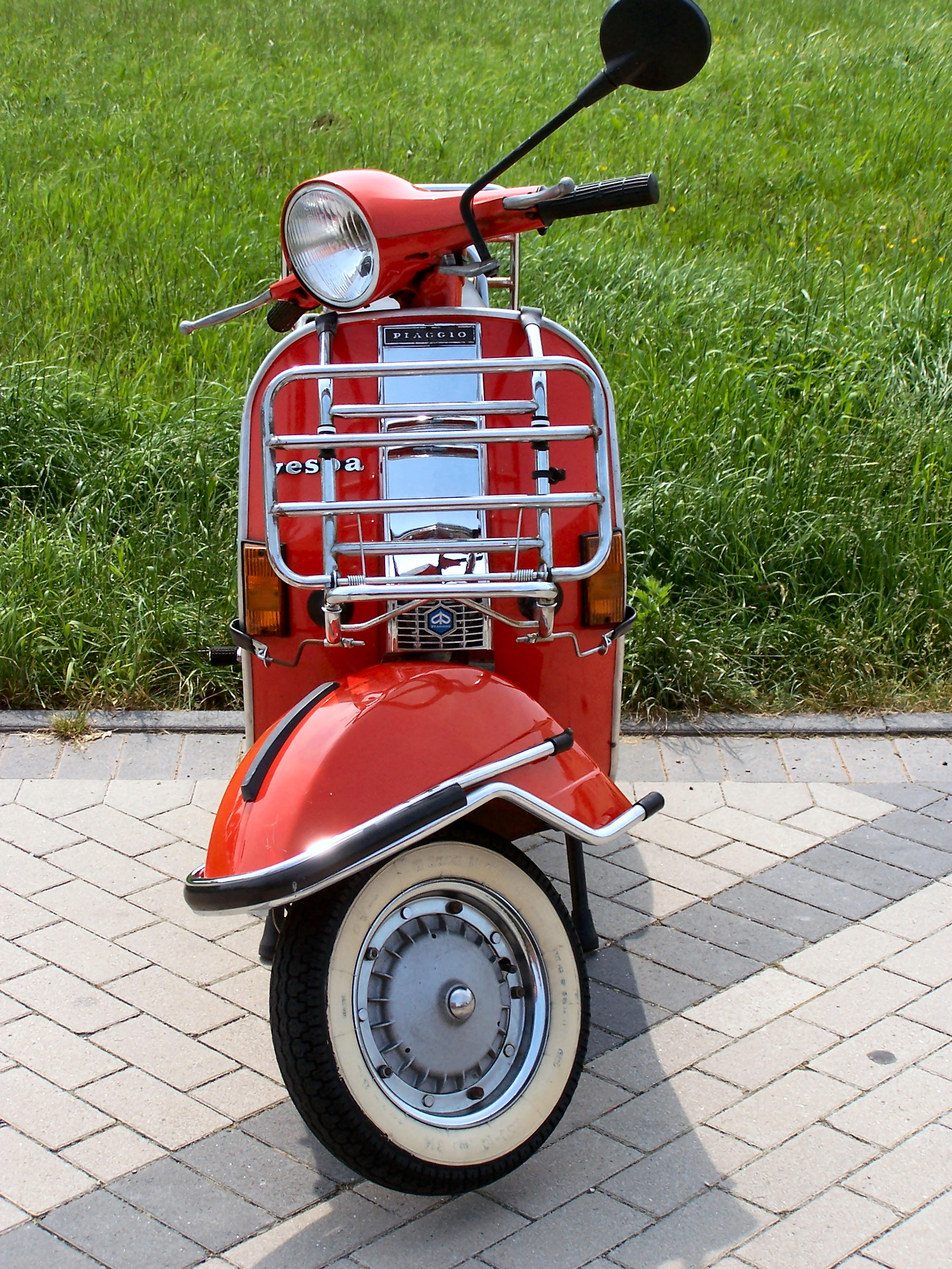My old vespa scooter, Motorcycle, Piaggio, Red, Scooter, HQ Photo