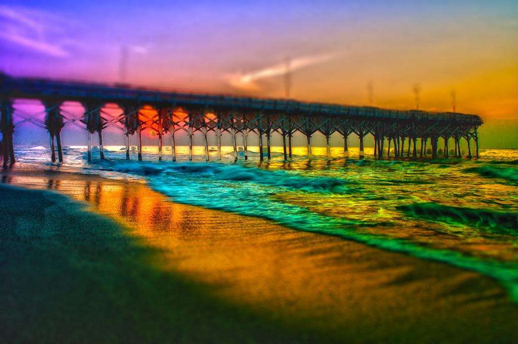 Myrtle beach pier sunrise photo