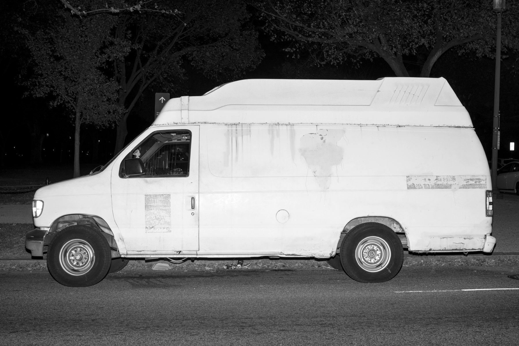 Mysterious black van photo