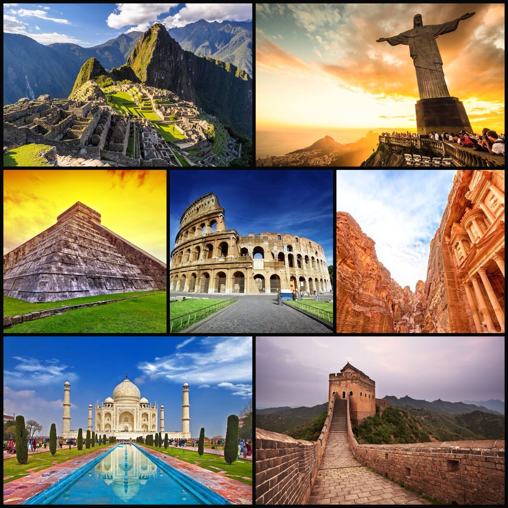 The 7 wonders of the modern world ..... !!! | Knowing the 7 wonders ...