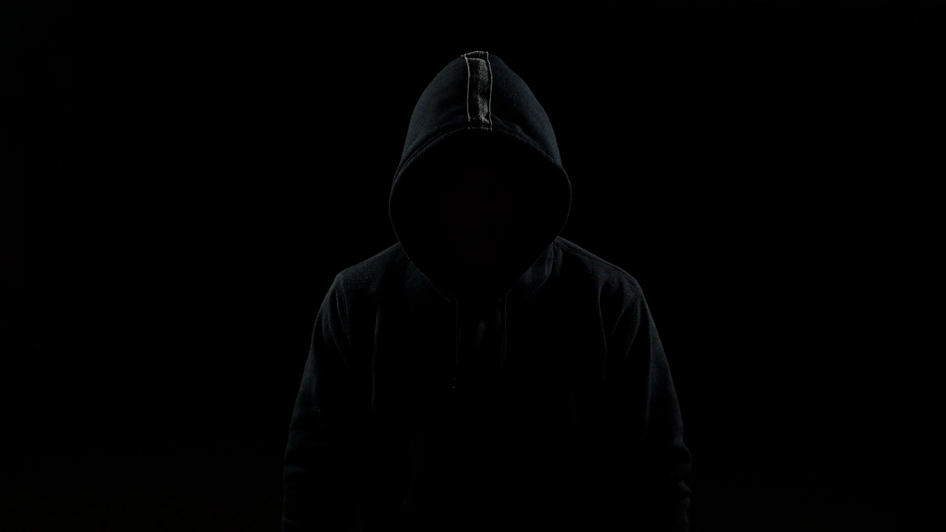 Mysterious Man in Silhouette with Hood on the Head Rotating Stock ...
