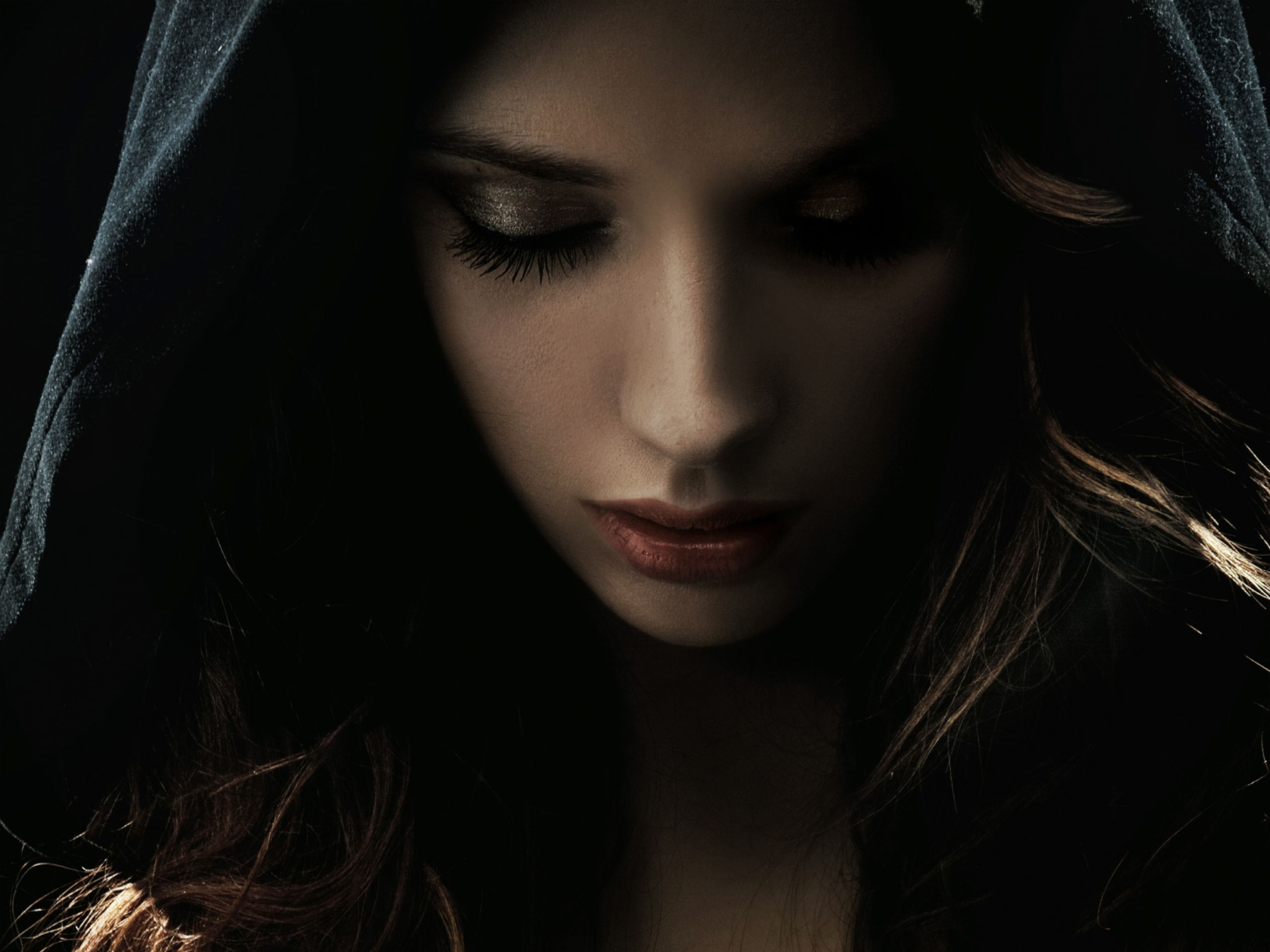 fantasy goth woman | wallpapers gothic forest mysterious girl ...