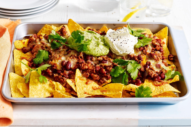 Tray baked nachos