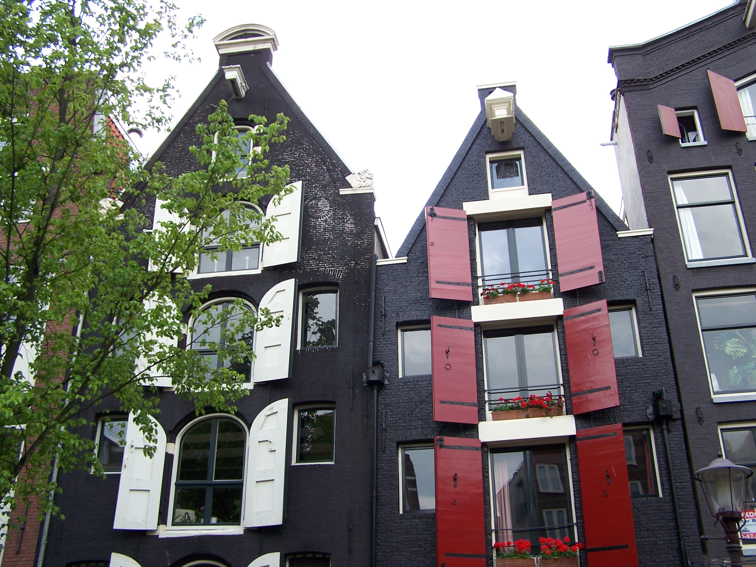 Narrow houses, Amsterdam, Black, Buildings, Dutch, HQ Photo