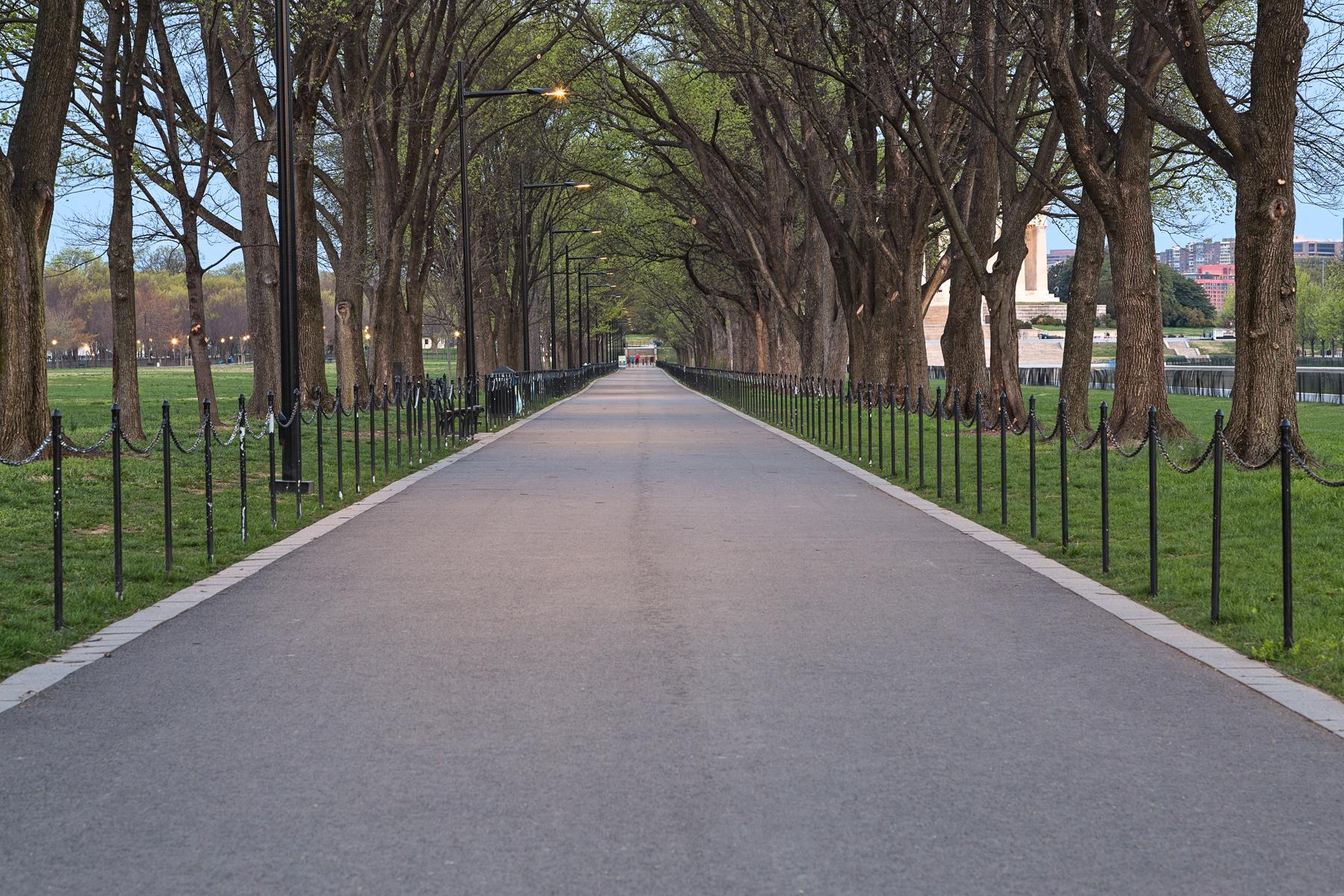 National Mall Promenade - HDR, America, Railings, Sepia, Seasonal, HQ Photo