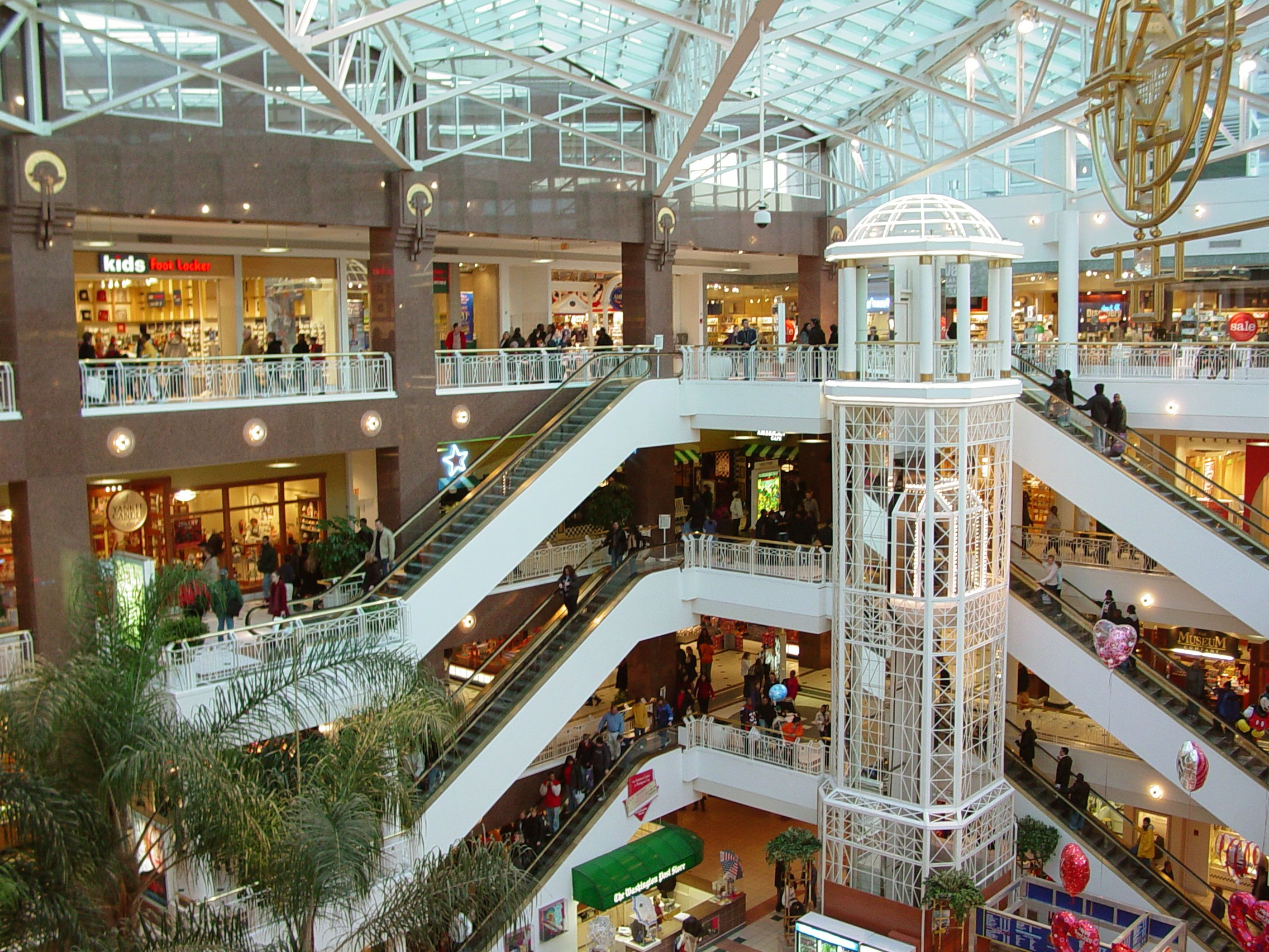 National mall promenade - pink hdr photo