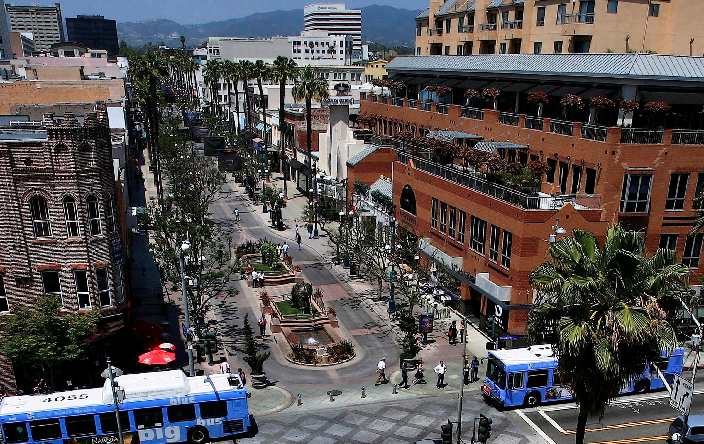 Stop #4 - 3rd Street Promenade. This downtown Santa Monica ...
