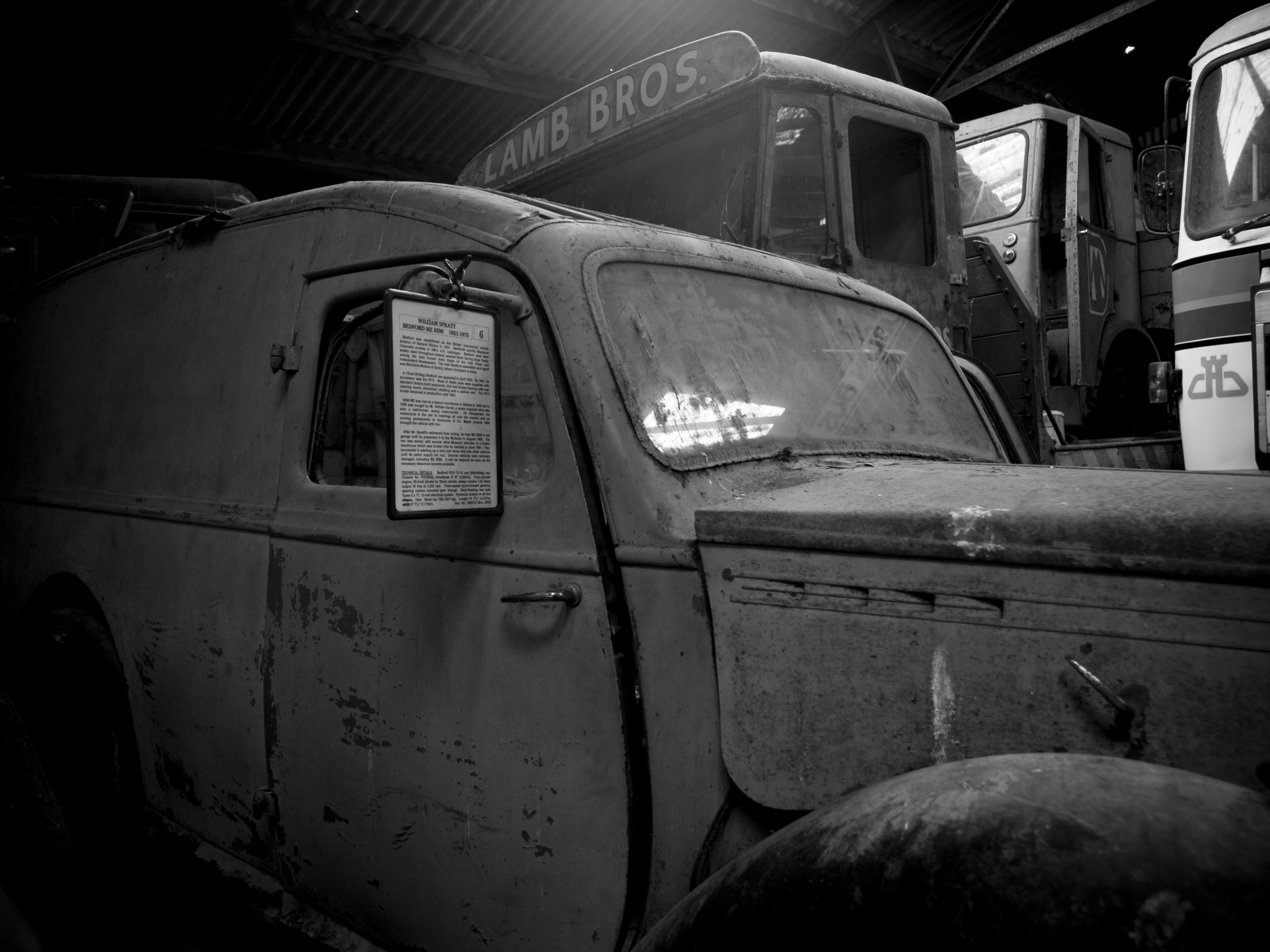 National Transport Museum - Howth, Dublin, Blackandwhite, Car, Dublin, Monochrome, HQ Photo