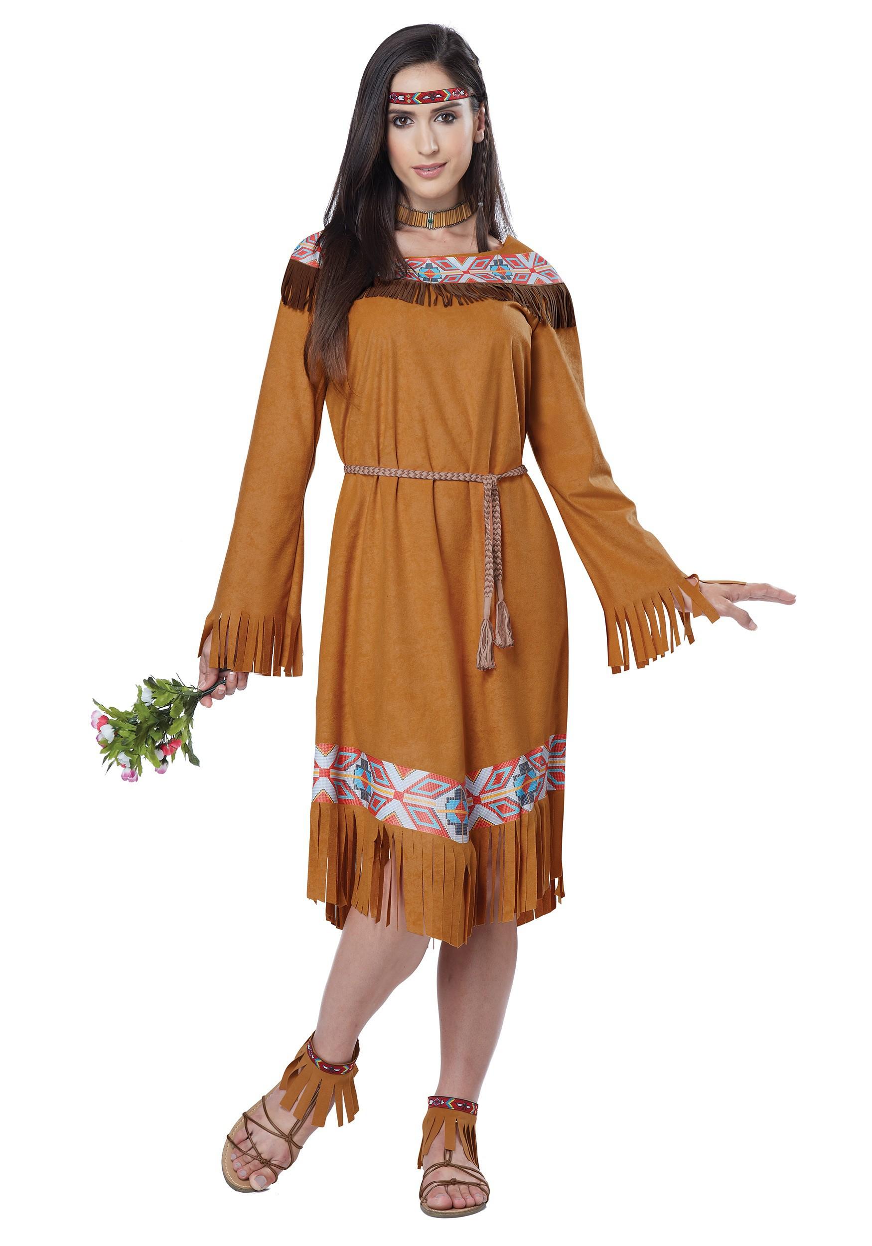 Classic Native American Maiden Costume for Women