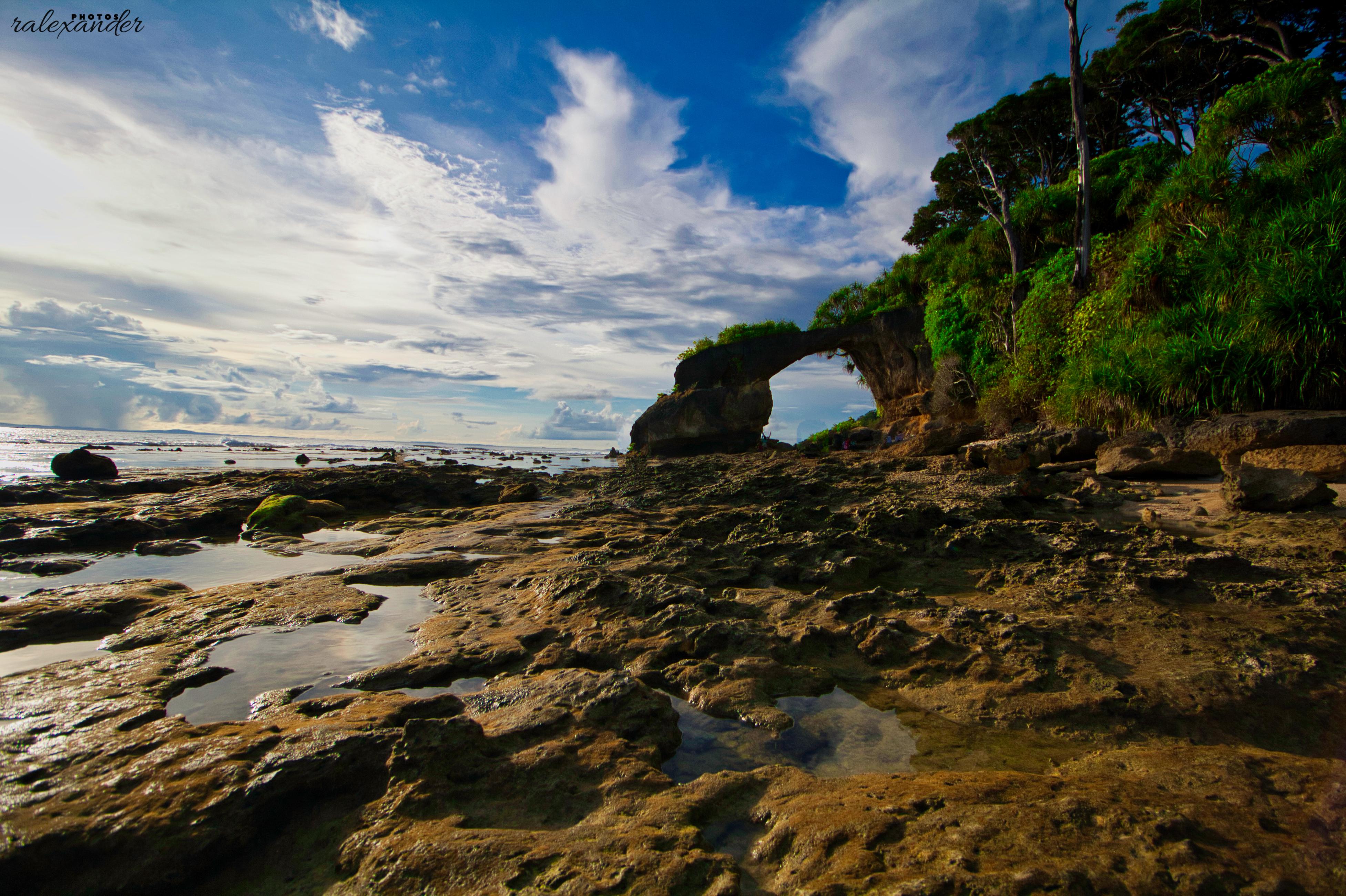 Natural bridge in Lakshmanpur, Andaman, Bay, Beach, Coast, HQ Photo