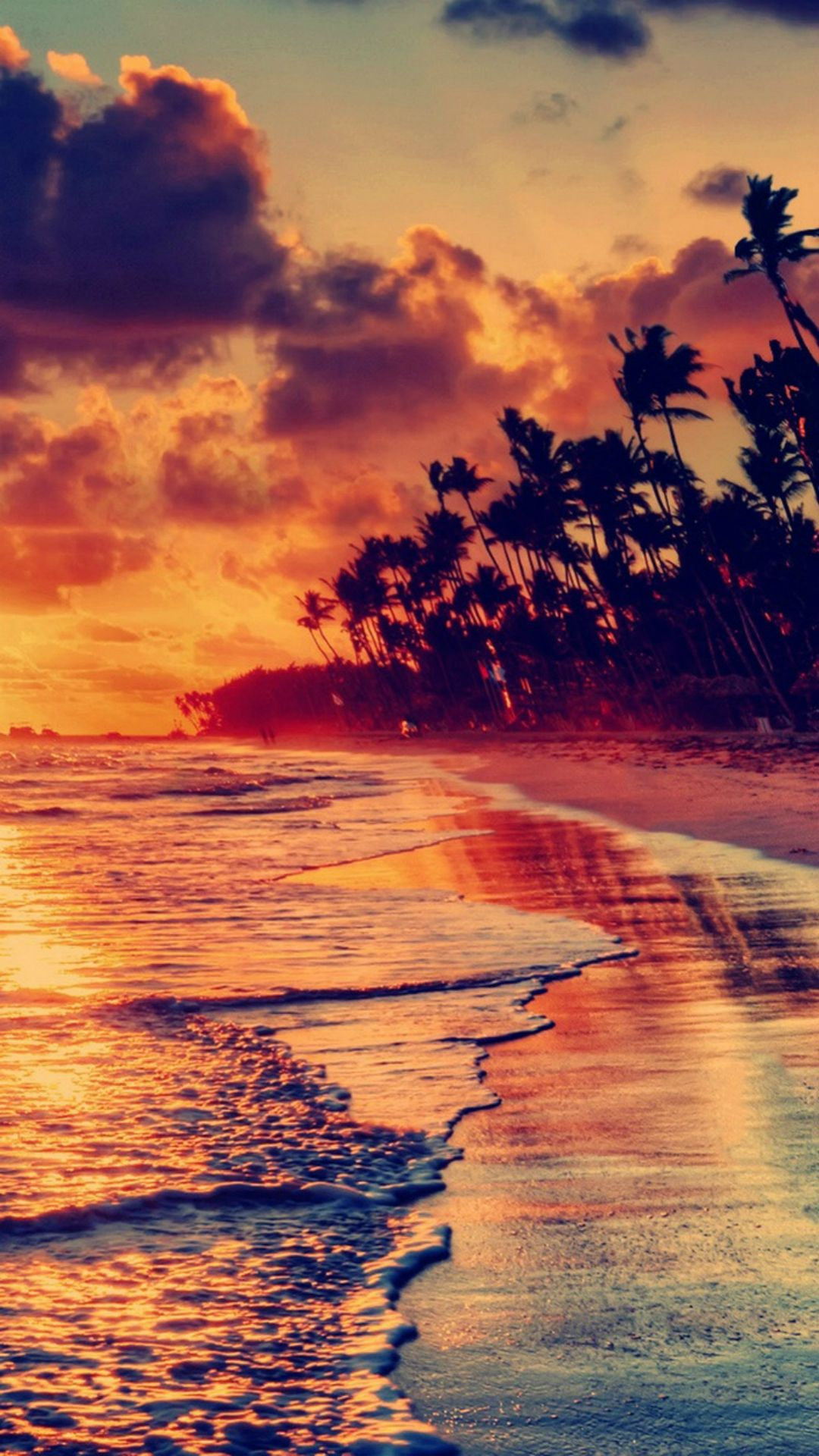 65 NATURAL IPHONE WALLPAPERS FOR THE NATURE LOVERS | Sunset beach ...