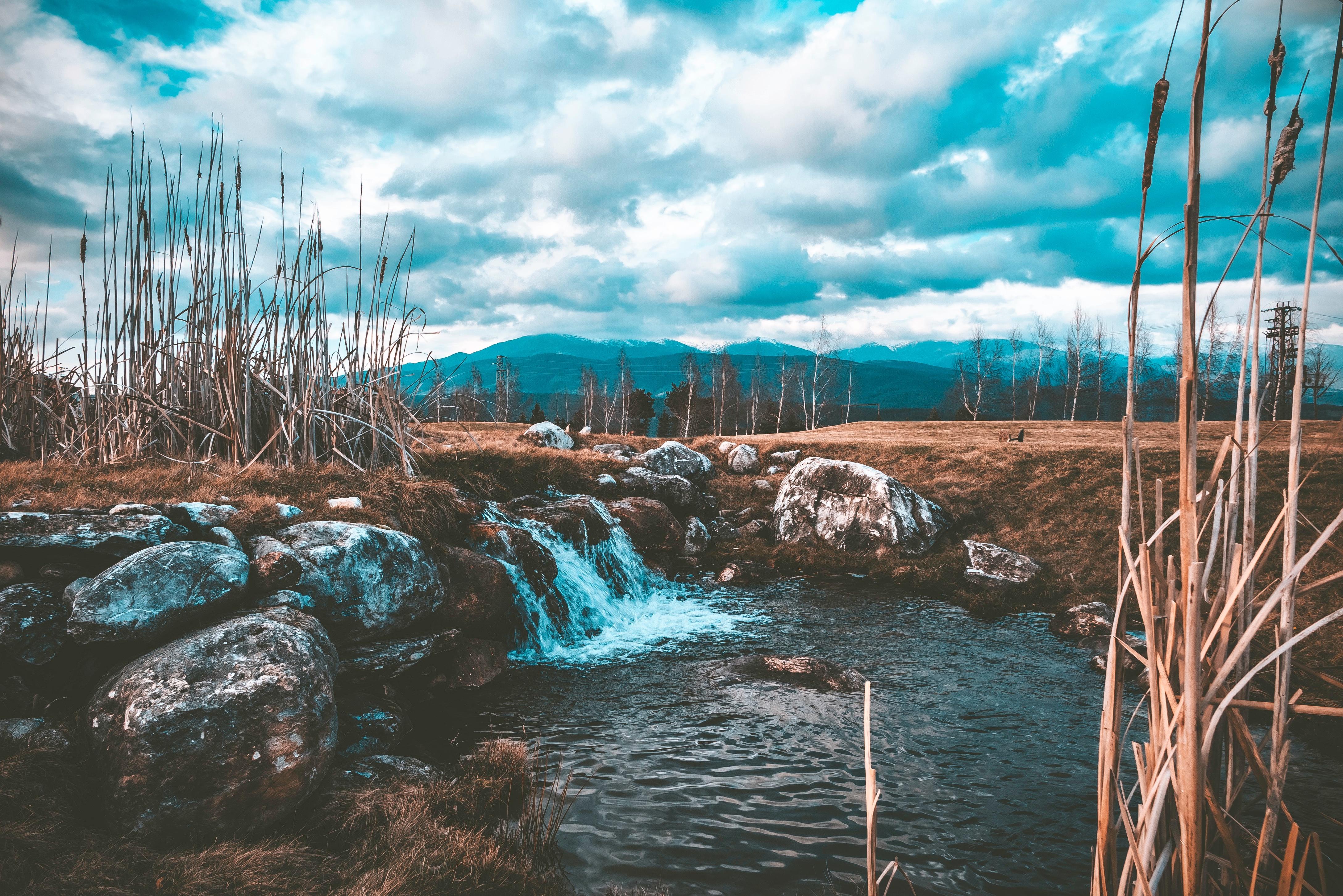 Nature makes its way, Cloud, Cloudy, Flow, Landscape, HQ Photo