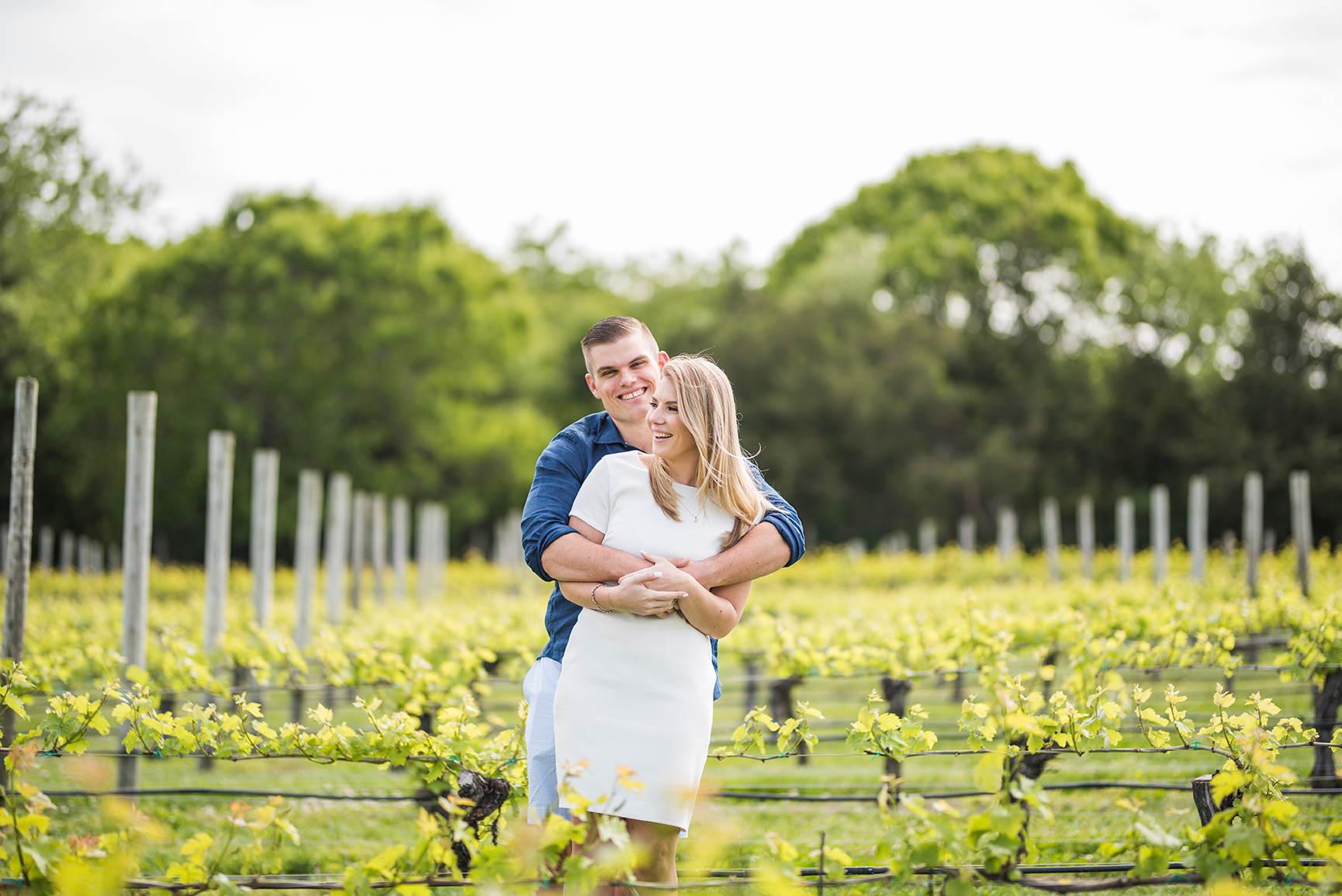 Jenn + Mike's Winery Engagement at Pellegrini Vineyards