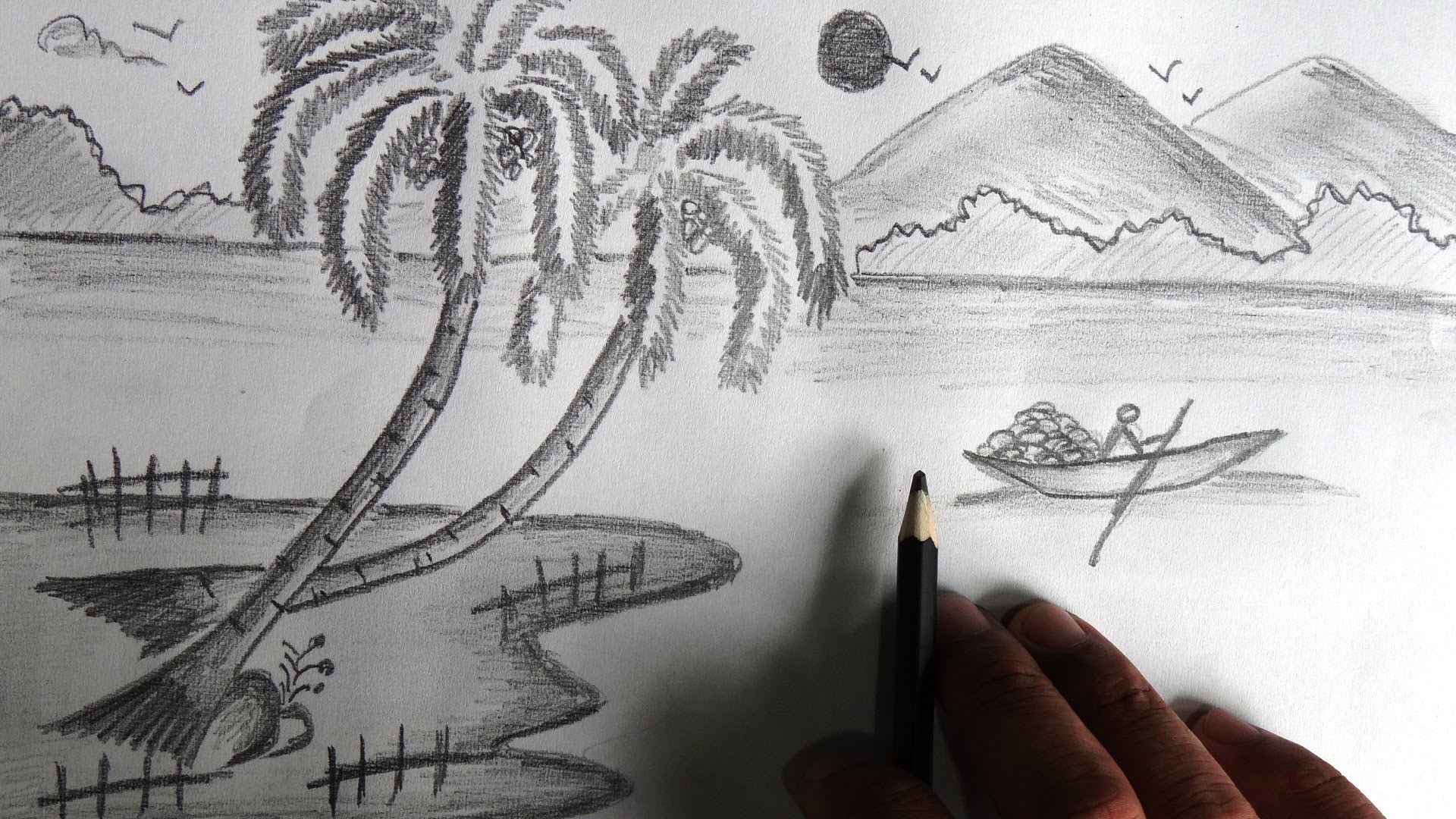 Nature's Pencil Sketch Pencil Sketch Still For Natures - Drawing Of ...