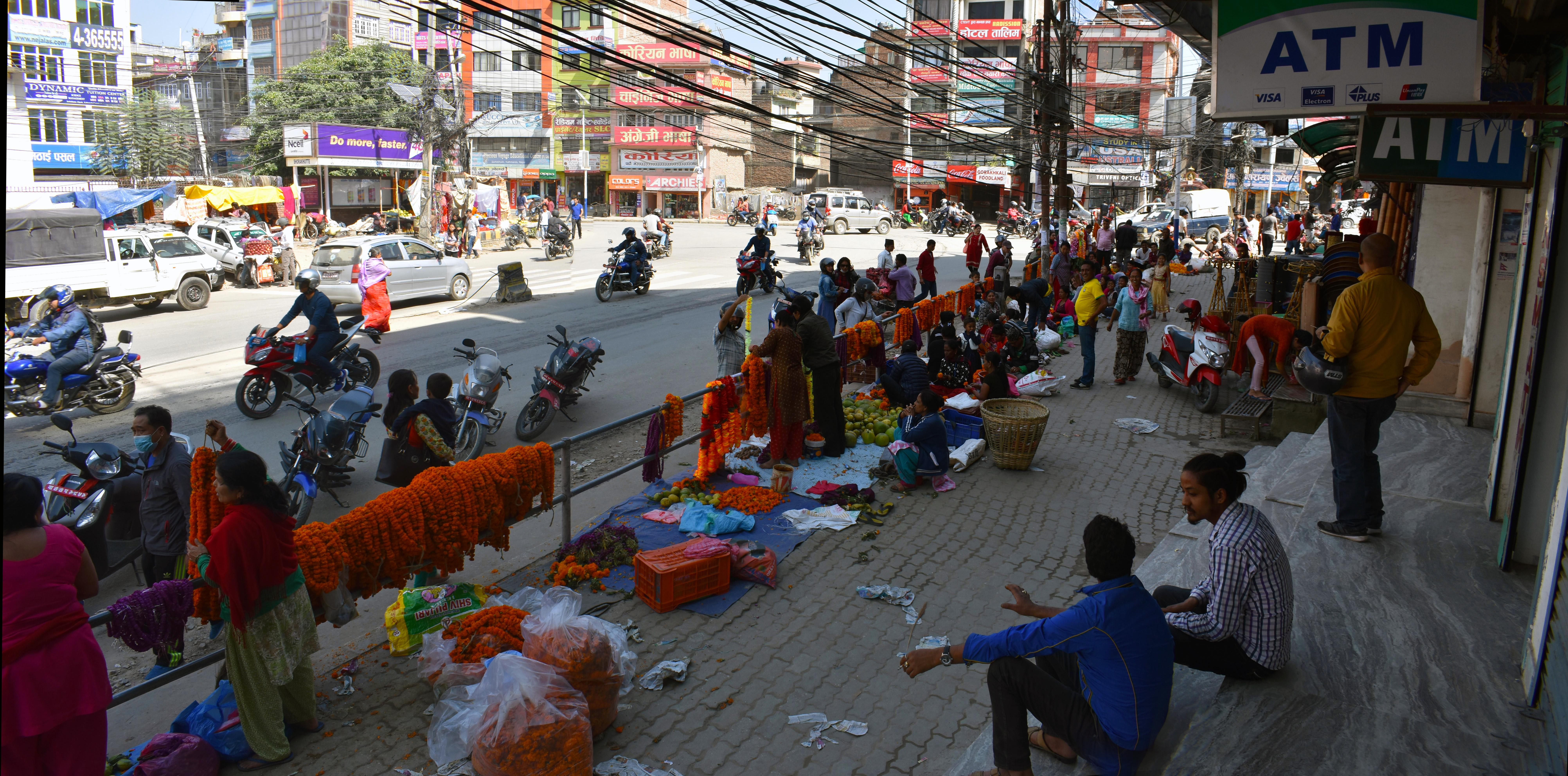 Free photo: Naya Bazar Kathmandu - Shop, Road, People - Free