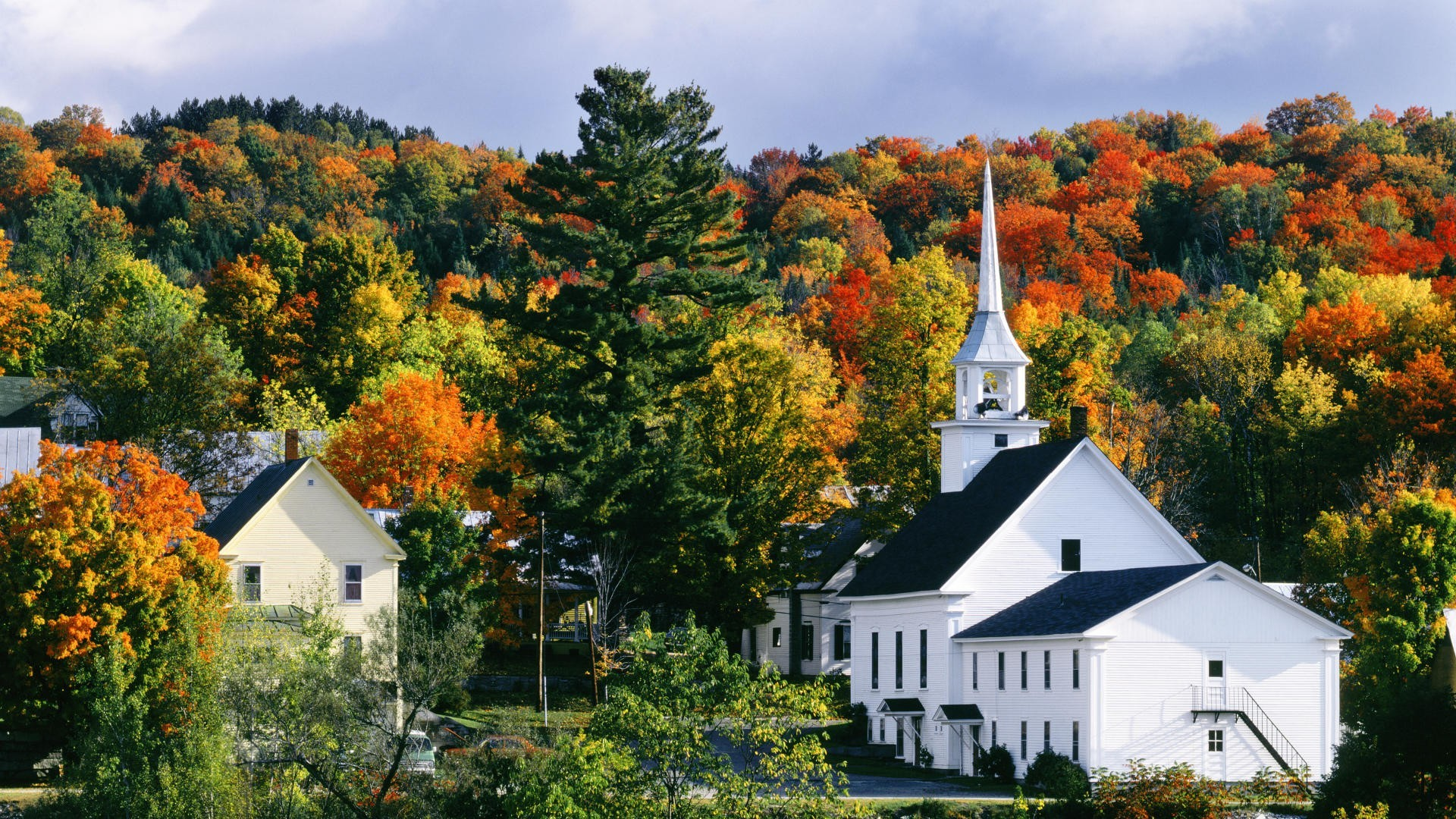 Religious: New England Church Autumn Nature Churches Forests ...