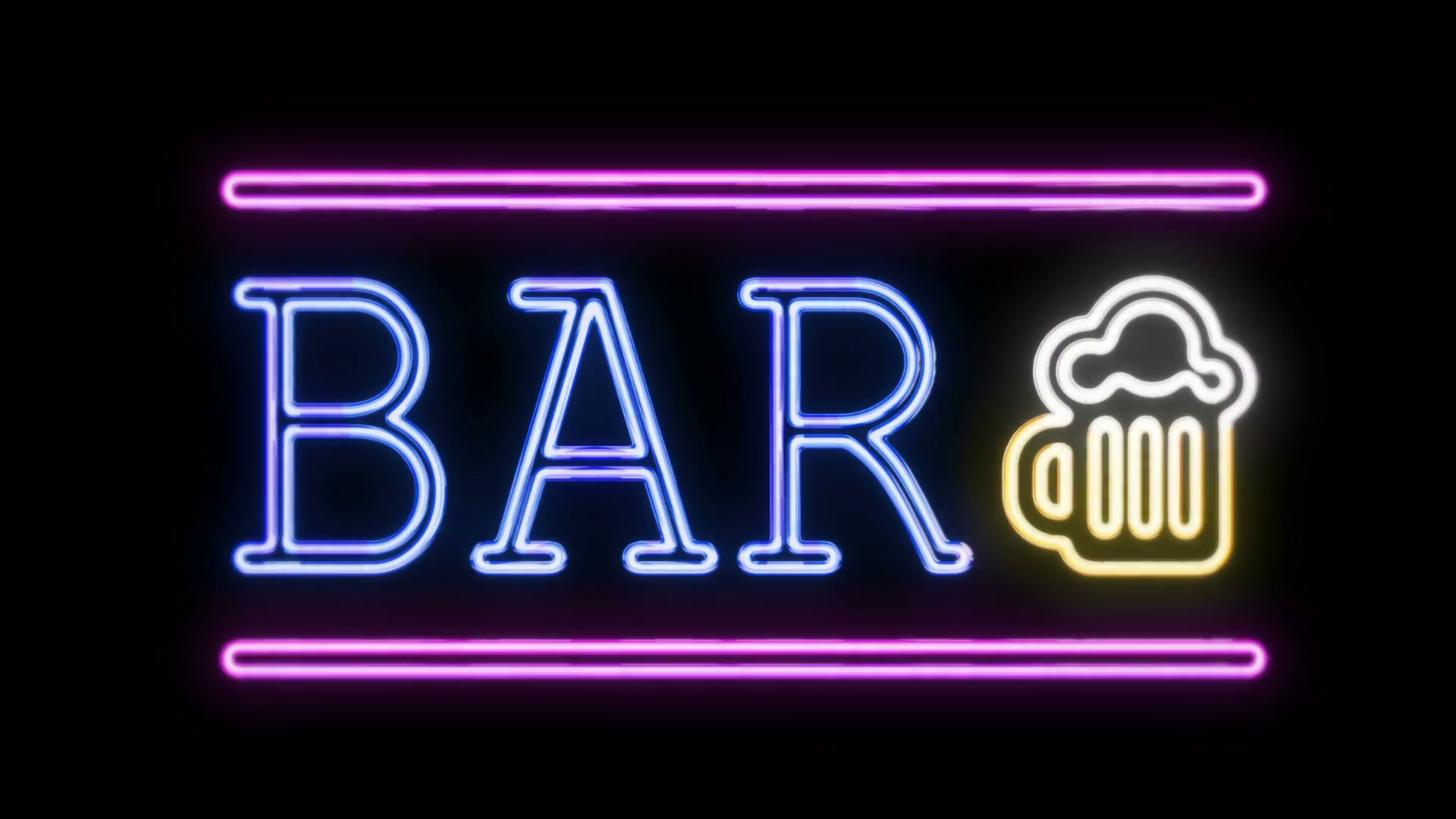 BAR Sign Neon Sign in Retro Style Turning On Stock Video Footage ...