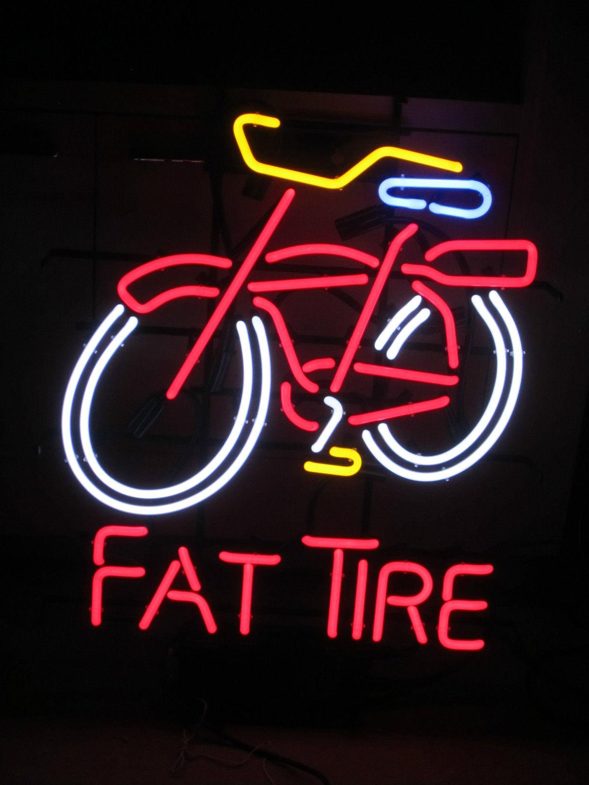 2018 Fat Tire Glass Neon Sign Beer New Bar Light 19 From ...