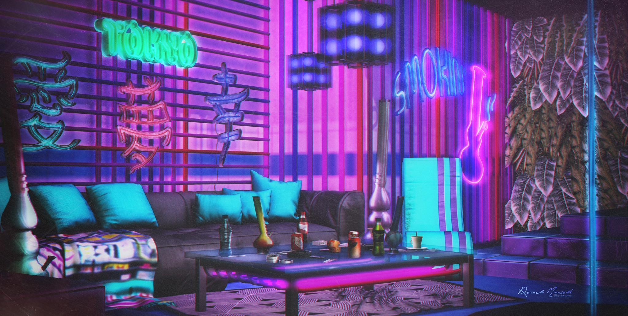 Tokyo Neon Bar | Emporio Look