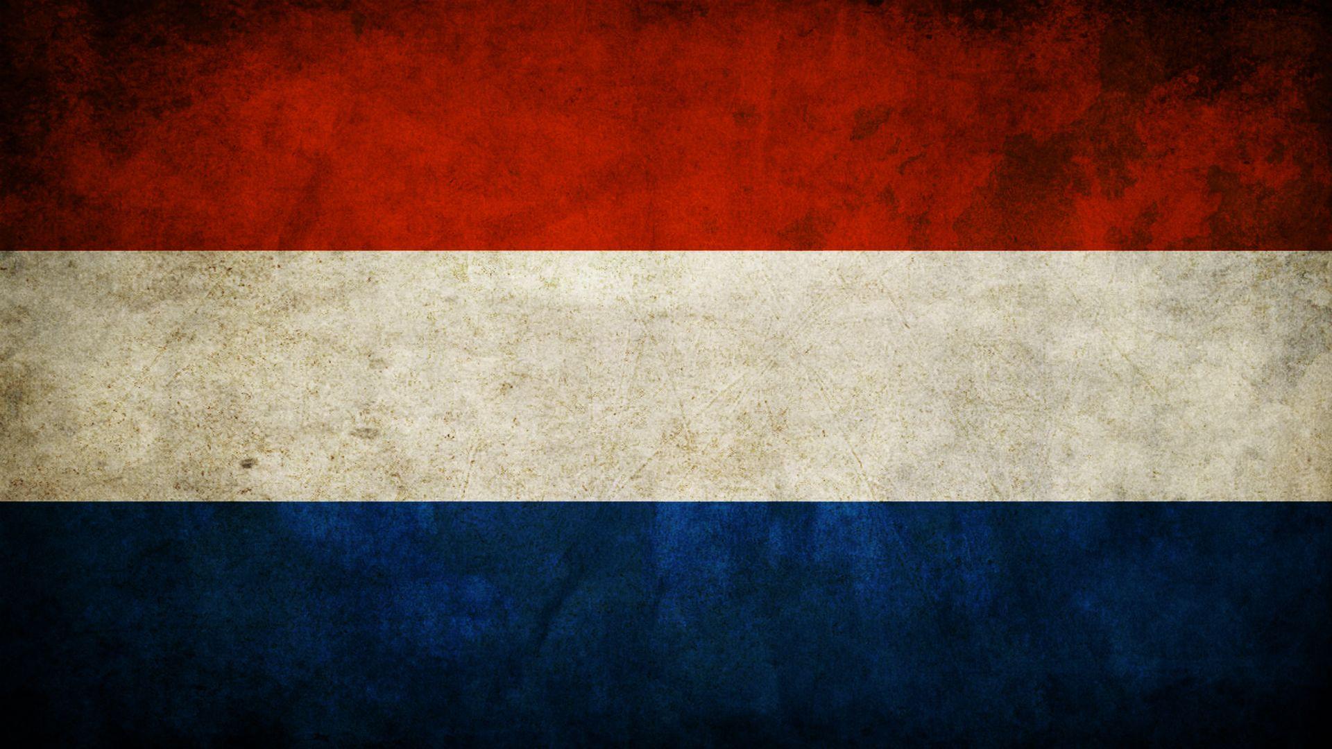Netherlands grunge flag photo