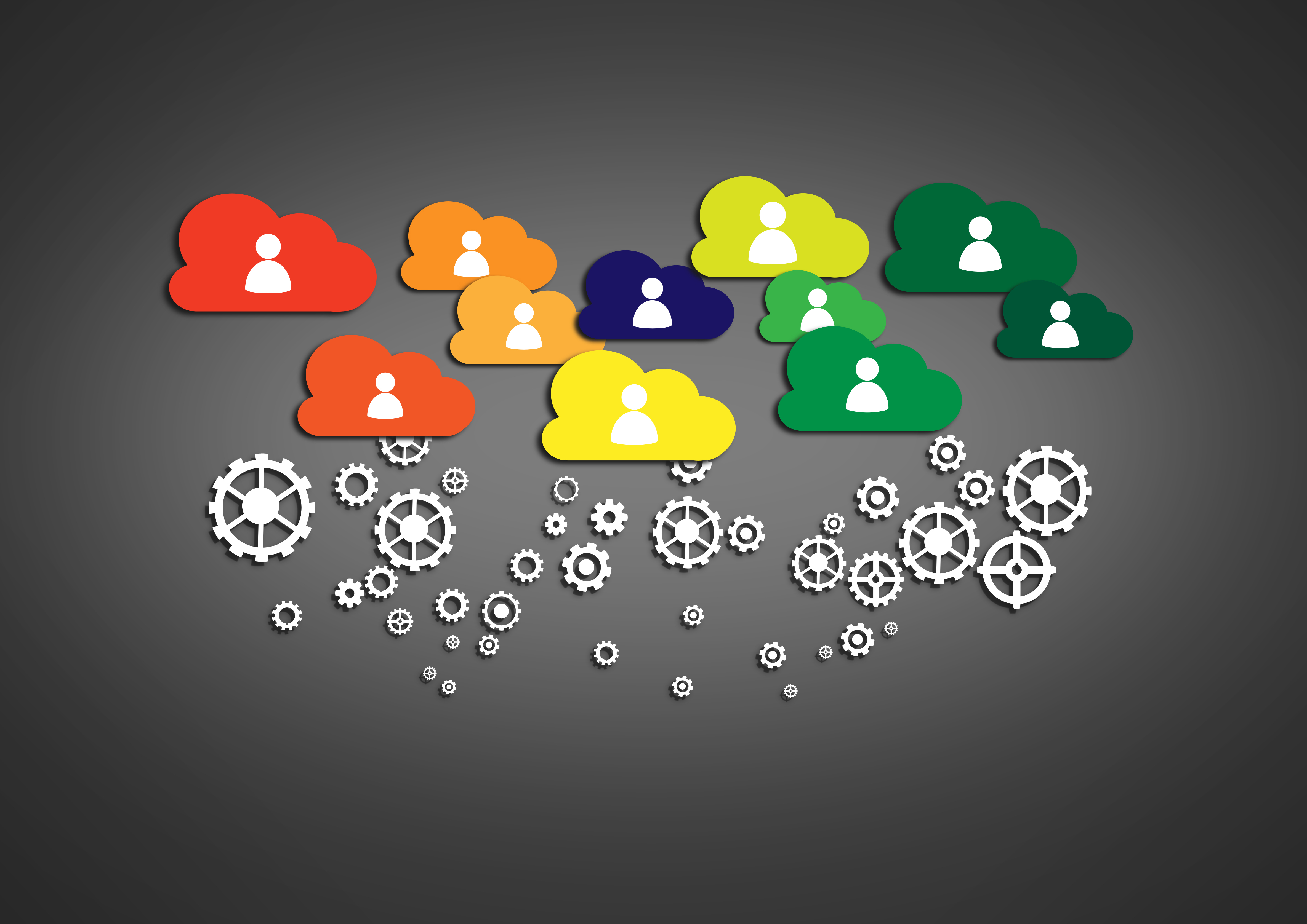 Network concept with cloud technology, Analytics, Networking, Research, Remote, HQ Photo