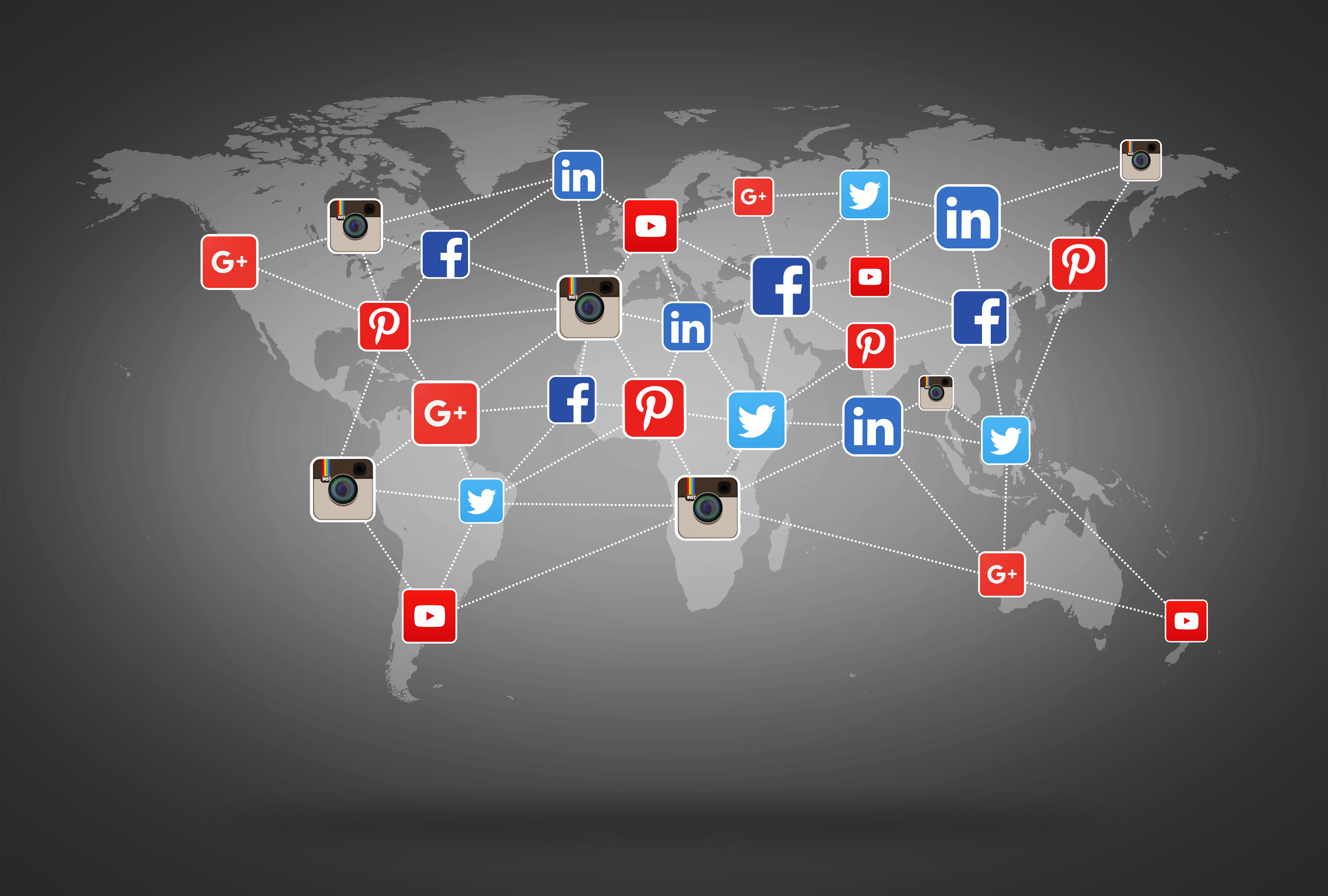 Network of social media networks photo
