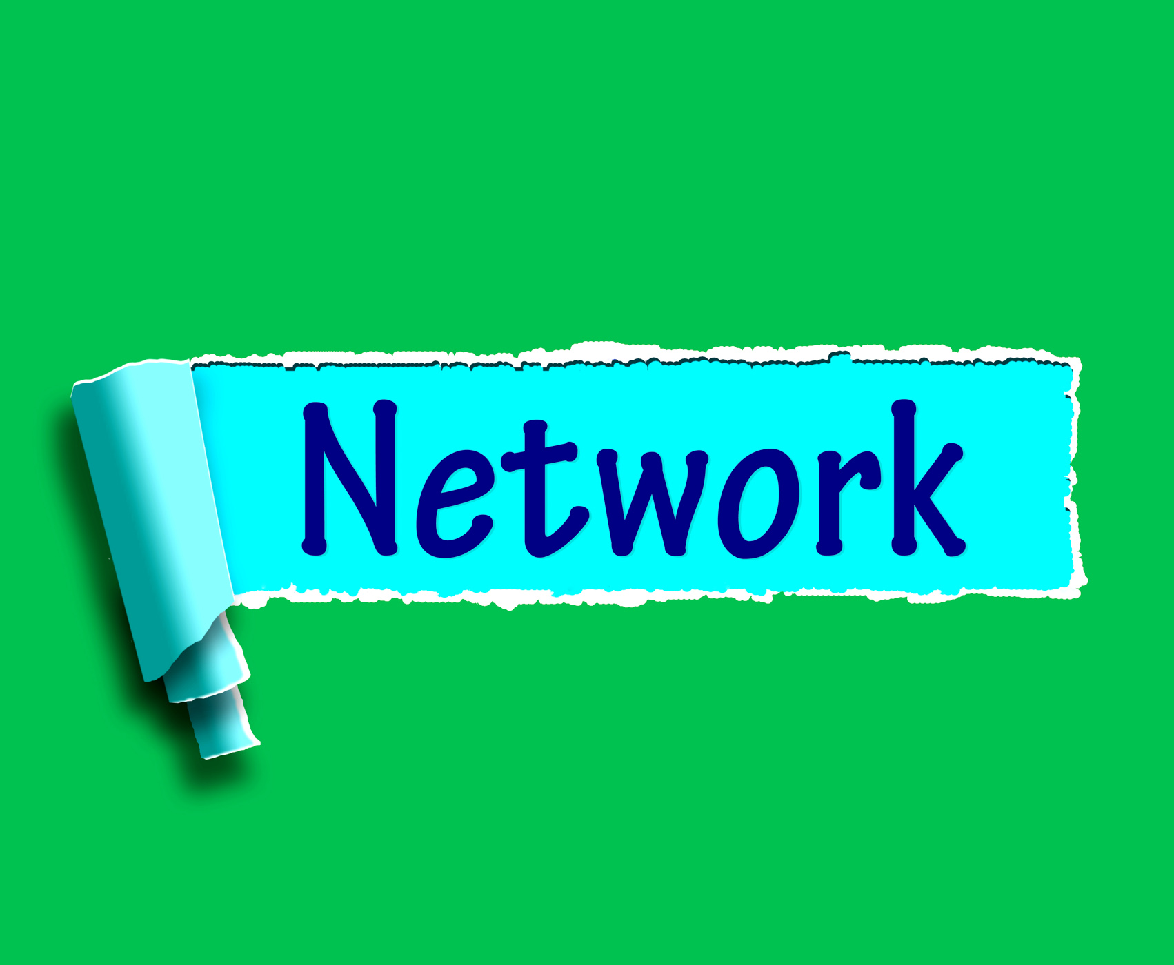 Network word means online connections and contacts photo