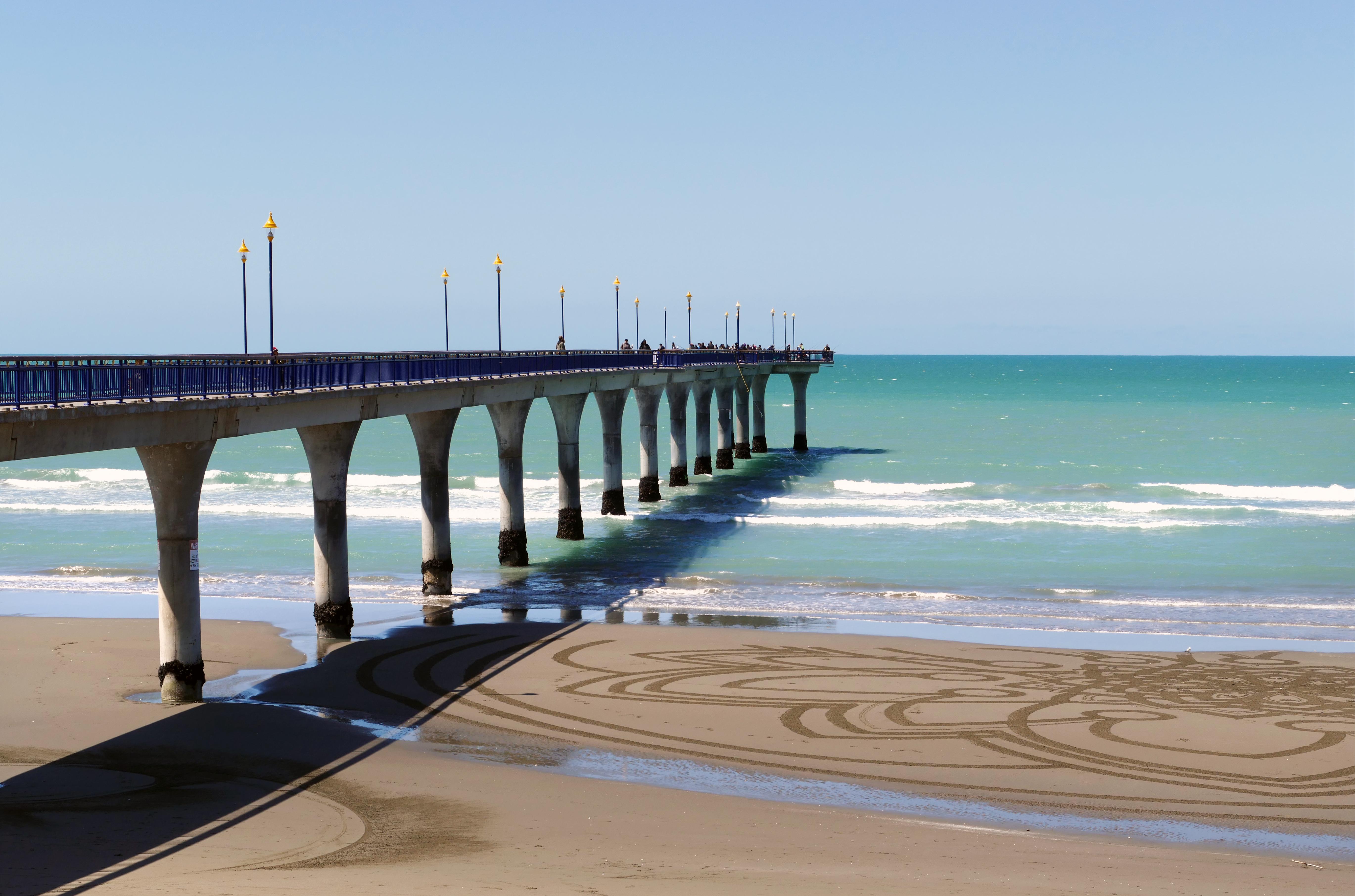 New brighton pier. christchurch nz. photo